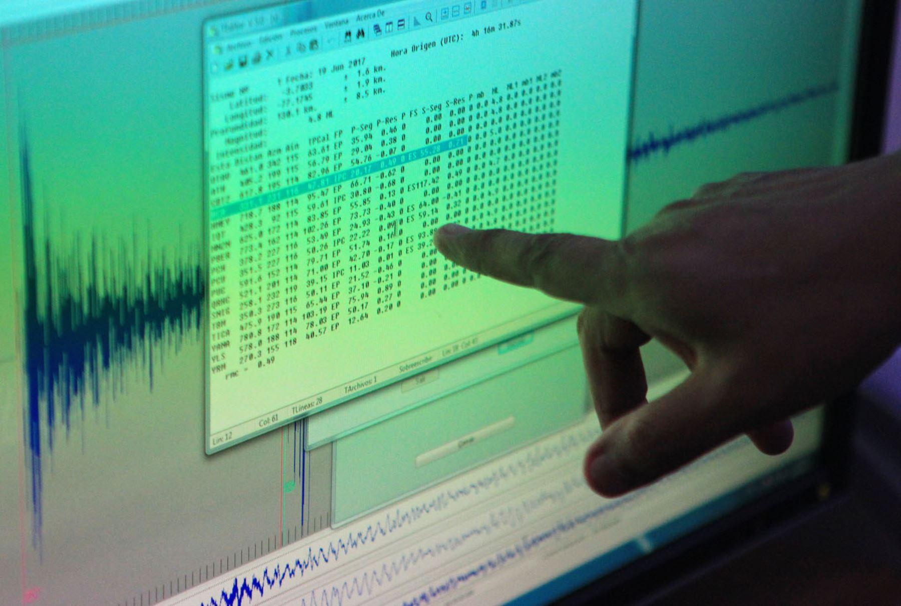 Cinco sismos se reportaron en lo que va del día en diversas regiones del país. ANDINA/Héctor Vinces