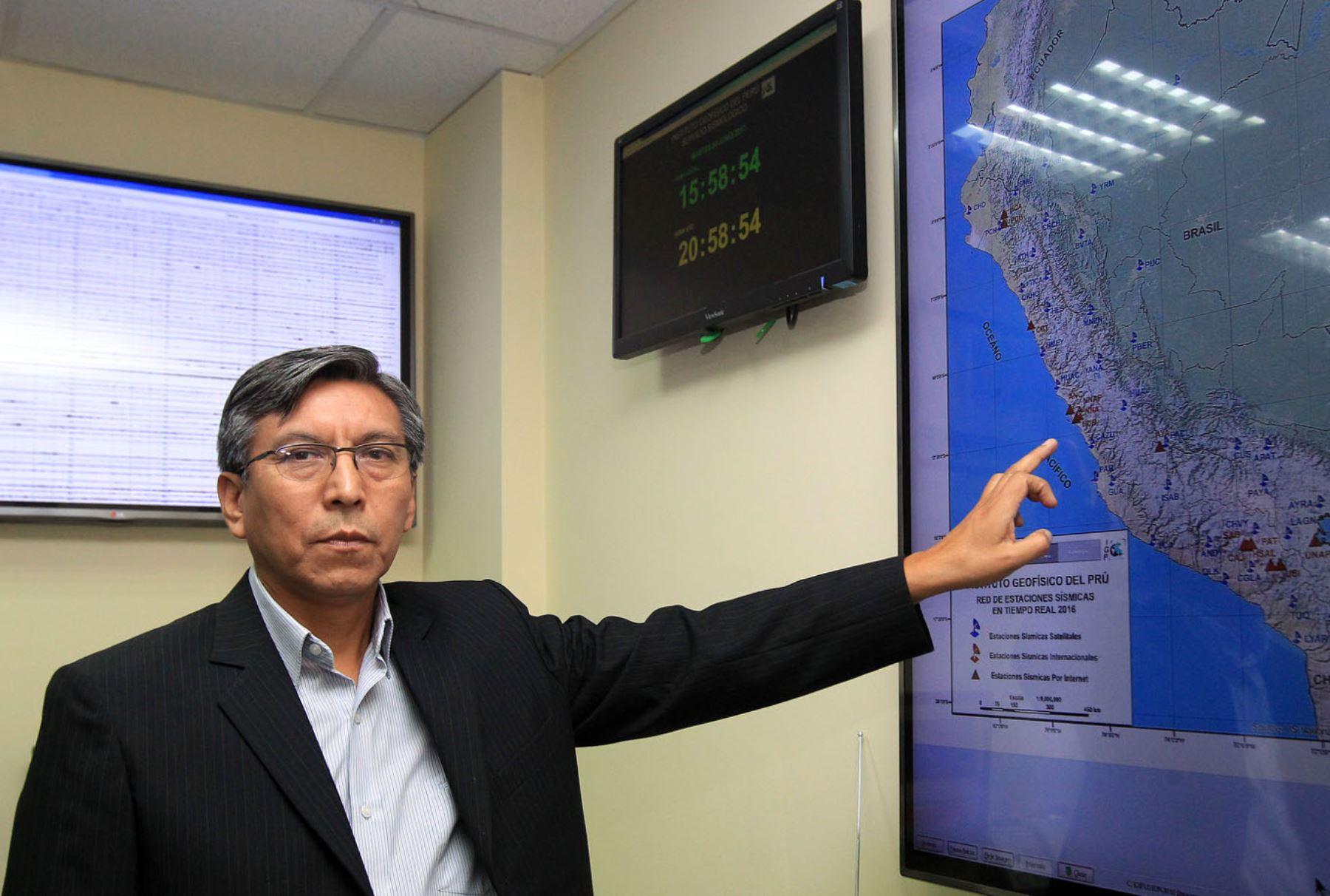 Hernando Tavera asegura que la mayor ocurrencia registrada en el país y en la región es normal debido a la reactivación de una falla geológica. Foto:ANDINA/Héctor Vinces.