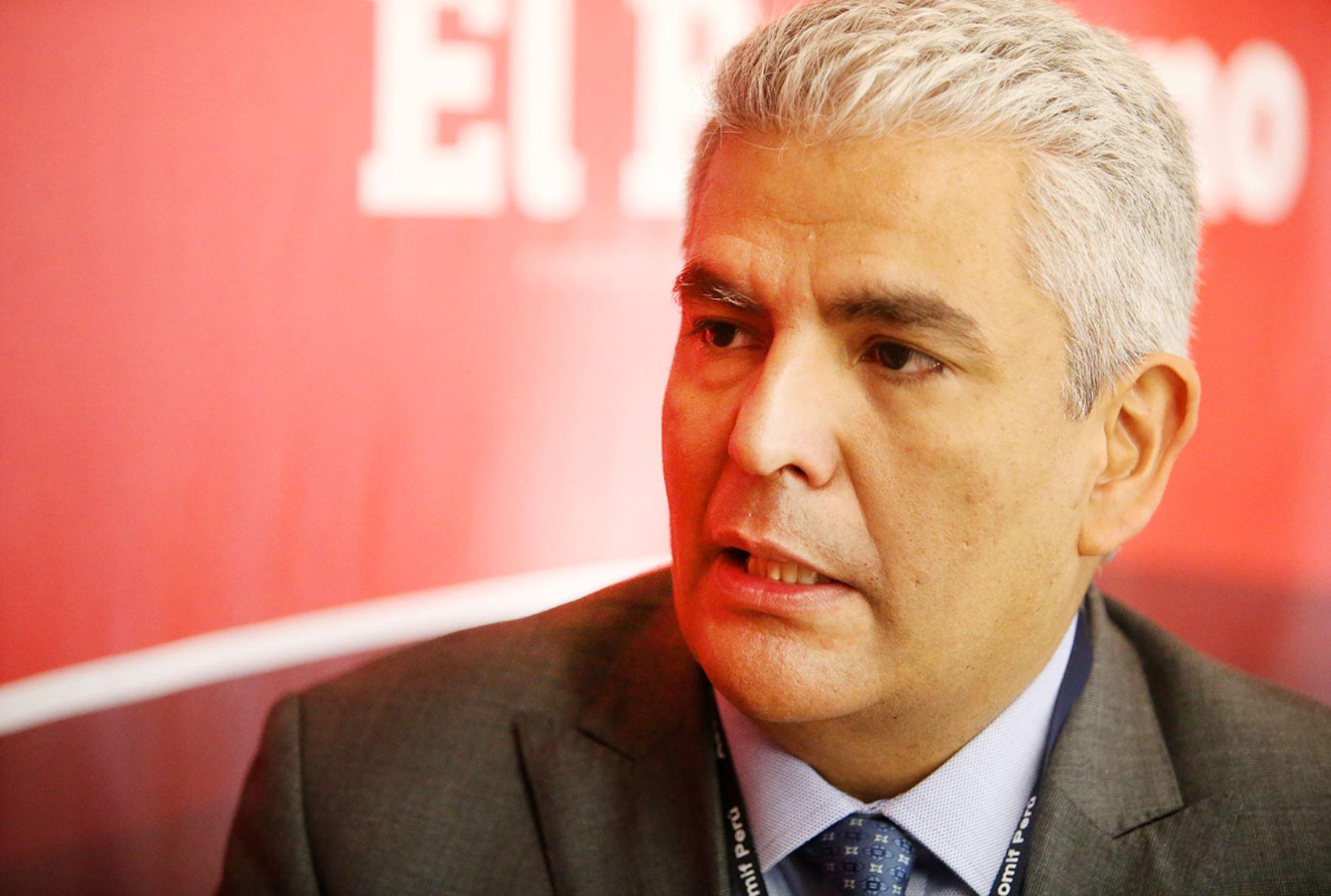Presidente de Apeseg, Eduardo Morón. ANDINA/Melina Mejía