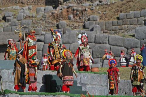 La escenificación del Inti Raymi en la explanada del parque arqueológico Sacsayhuamán, en Cusco, tendrá una duración de 80 minutos. Foto: ANDINA/Percy Hurtado Santillán.