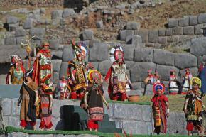 La escenificación del Inti Raymi en la explanada del parque arqueológico Sacsayhuamán, en Cusco, tendrá una duración de 80 minutos. ANDINA/Percy Hurtado Santillán