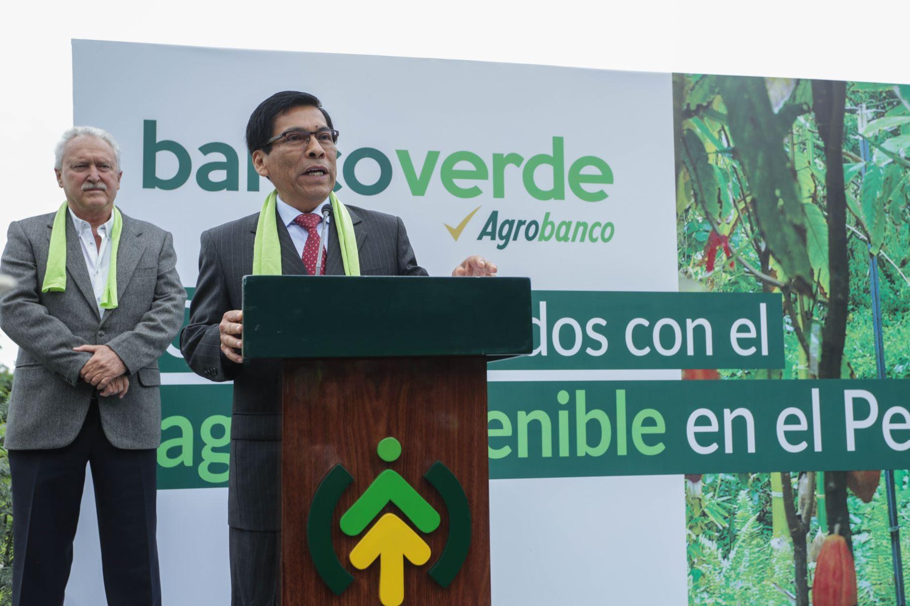 El ministro Hernández reconoció los esfuerzos de Agrobanco de convertirse en Banco Verde y las acciones adoptadas por el actual gobierno para su fortalecimiento.