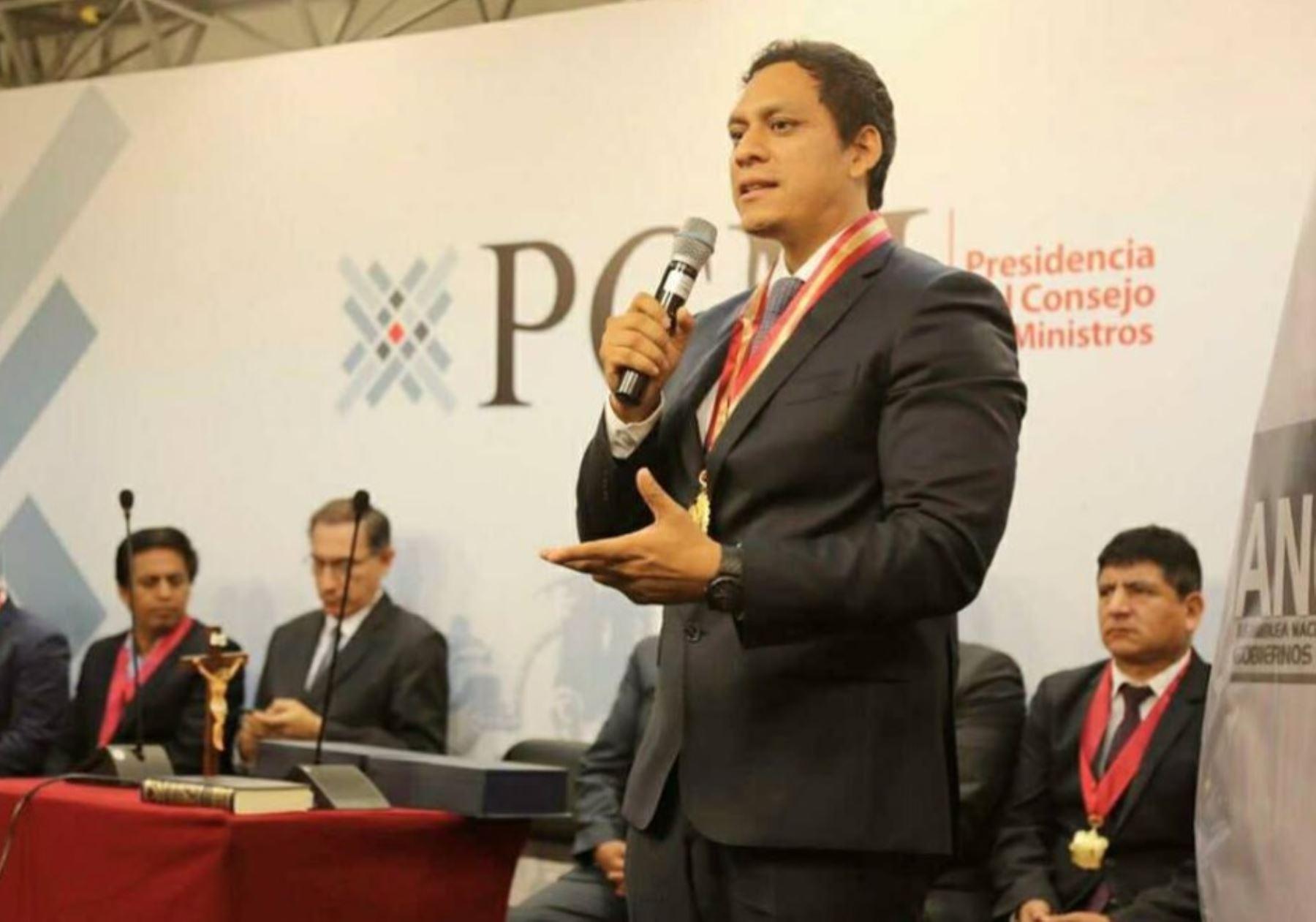Gobernador regional de La Libertad y nuevo presidente de la Asamblea Nacional de Gobiernos Regionales (ANGR), Luis Valdez Farías.
