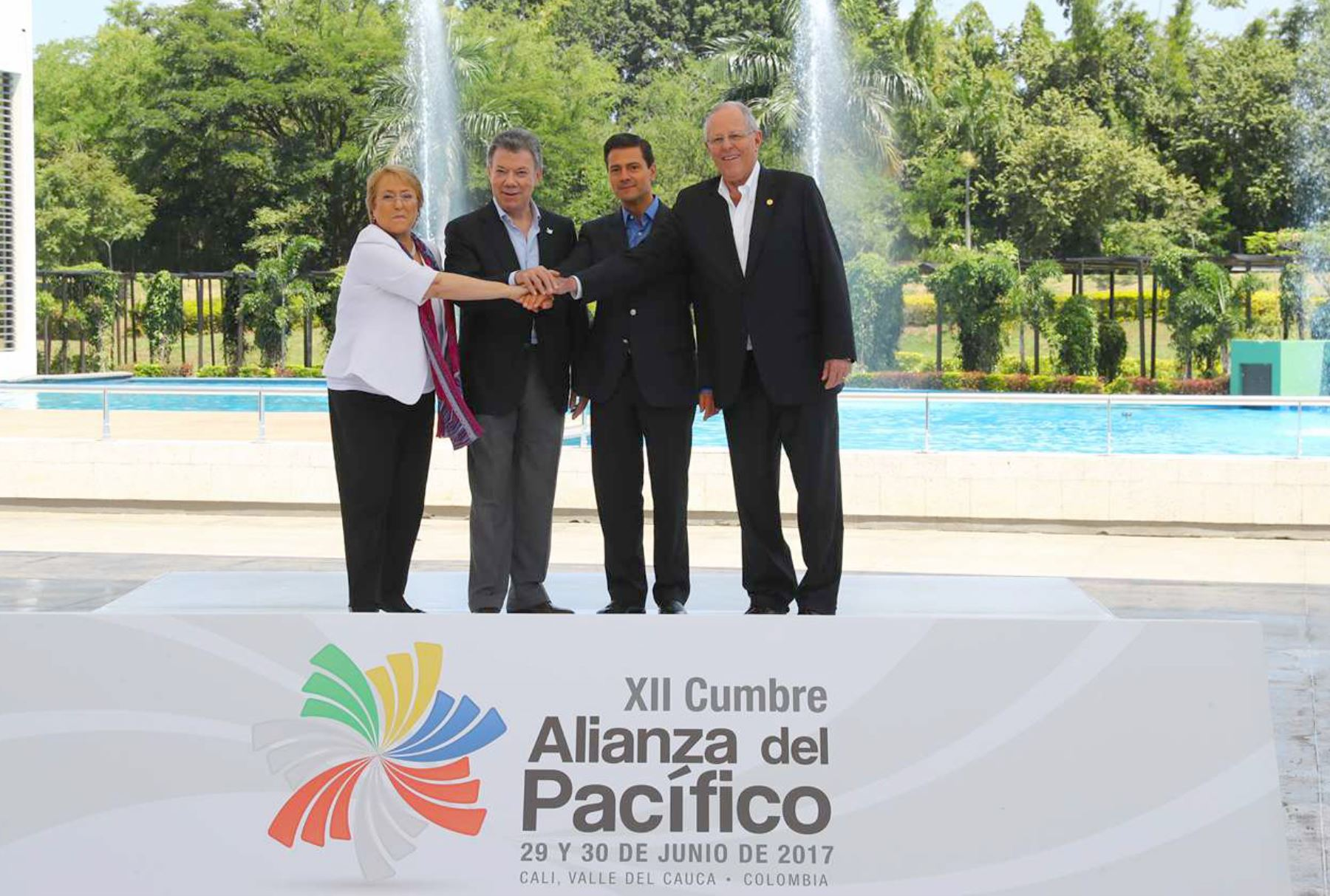 Fotografía oficial de la XII cumbre de la Alianza del Pacifico 2017.Foto:ANDINA/Prensa Presidencia