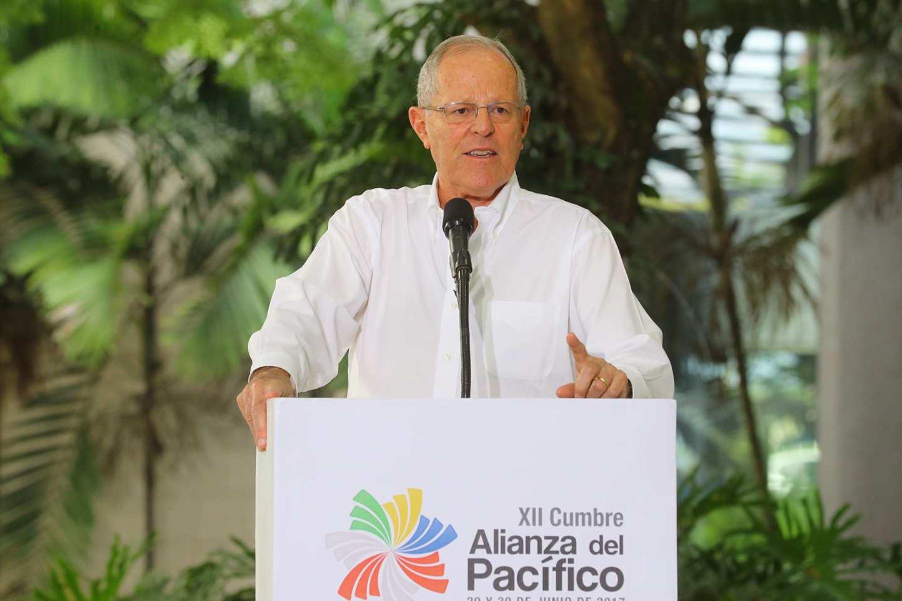 Jefes de Estado otorgan declaración conjunta al finalizar la XII Cumbre de la Alianza del Pacífico. Foto: ANDINA/ Prensa Presidencia