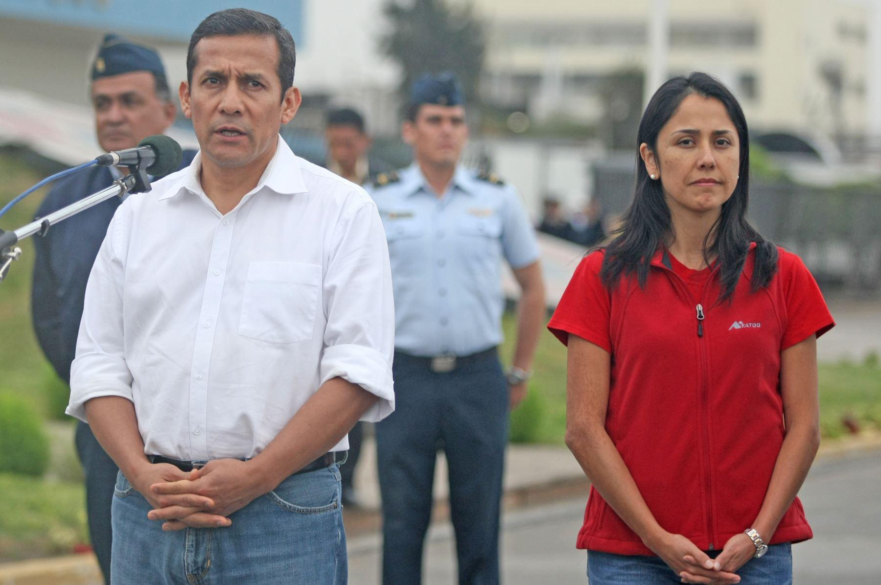 ex presidente de la República, Ollanta Humala; y su esposa, Nadine Heredia. Foto: ANDINA/ Vidal Tarqui