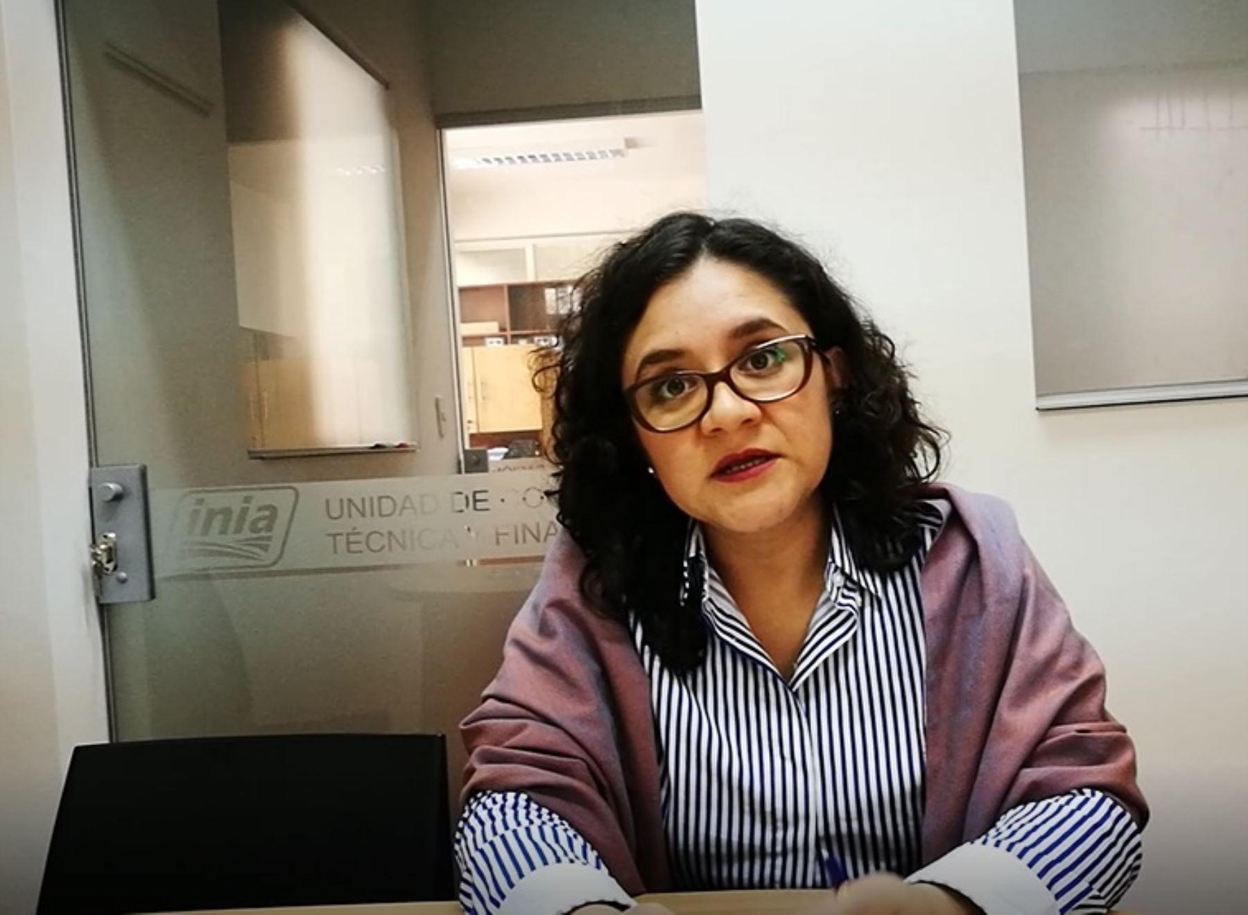 Rosa Angélica Sánchez Díaz, directora de Recursos Genéticos de la Dirección General de Recursos Genéticos y Biotecnología del Instituto Nacional de Innovación Agraria (INIA)
