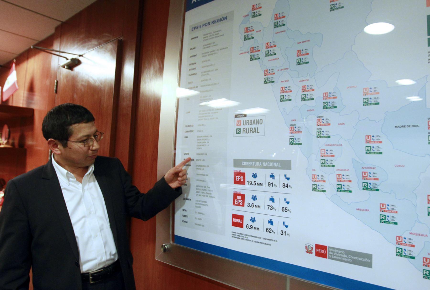 Ministro de Vivienda, Construcción y Saneamiento, Edmer Trujillo. Foto: ANDINA/Jhony Laurente.