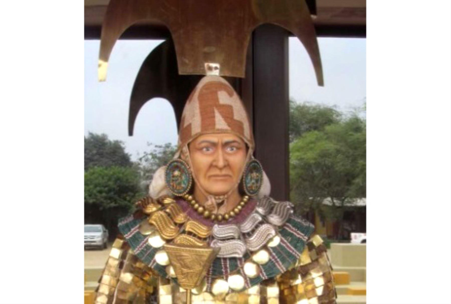 Busto con el rostro del jerarca moche que reinó hace 1,700 años los valles de Lambayeque, reconstruido gracias a la técnica 3D.