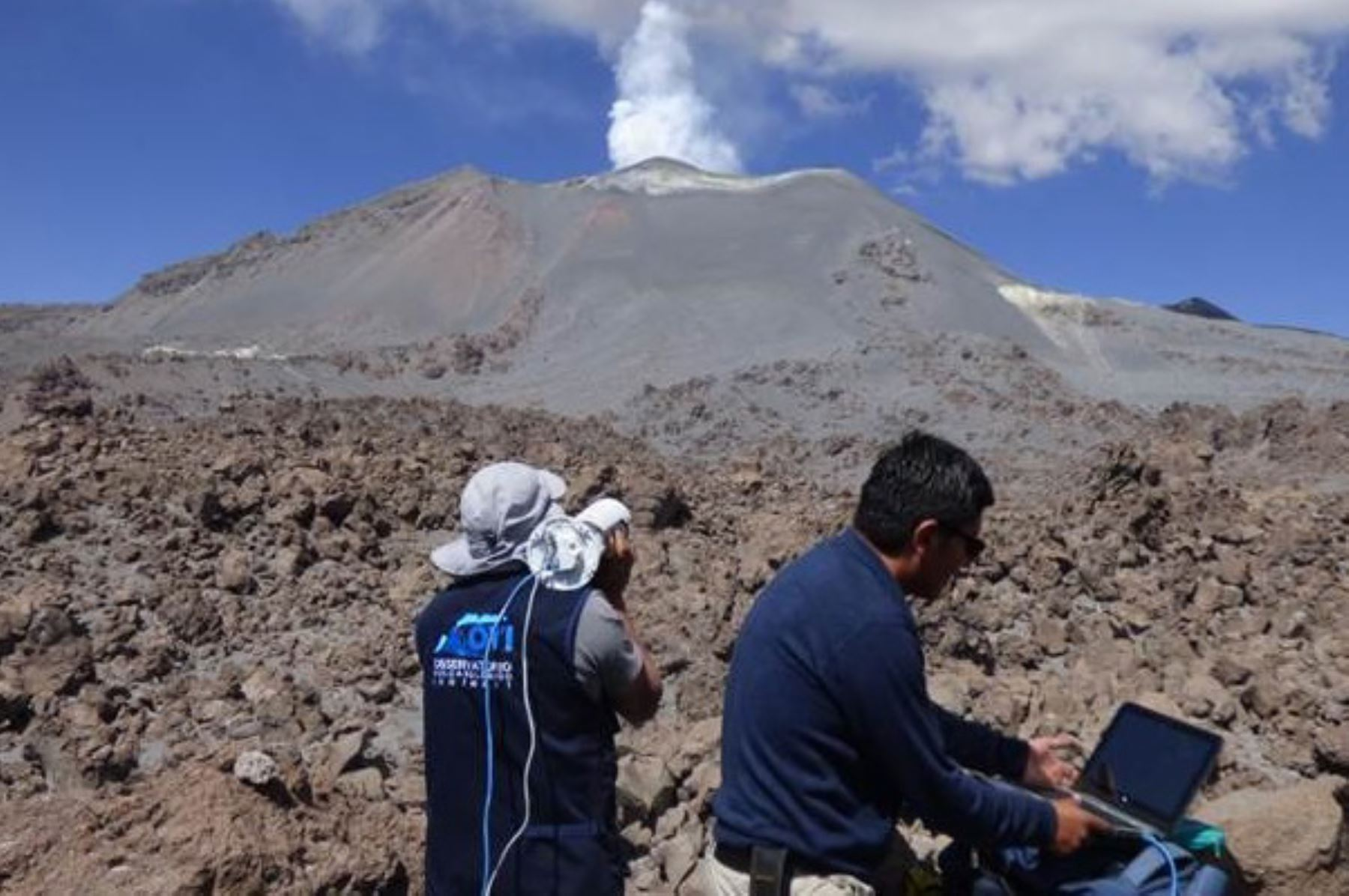 Ingemmet elaborará mapa de peligro del volcán Chachani. ANDINA/Difusión