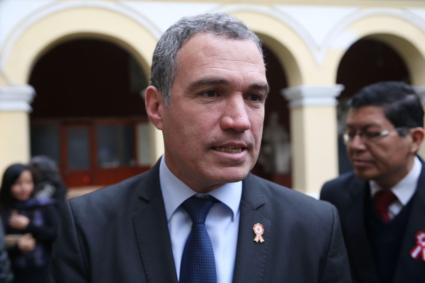 Ministro de Cultura, Salvador del Solar. ANDINA/Oscar Farje