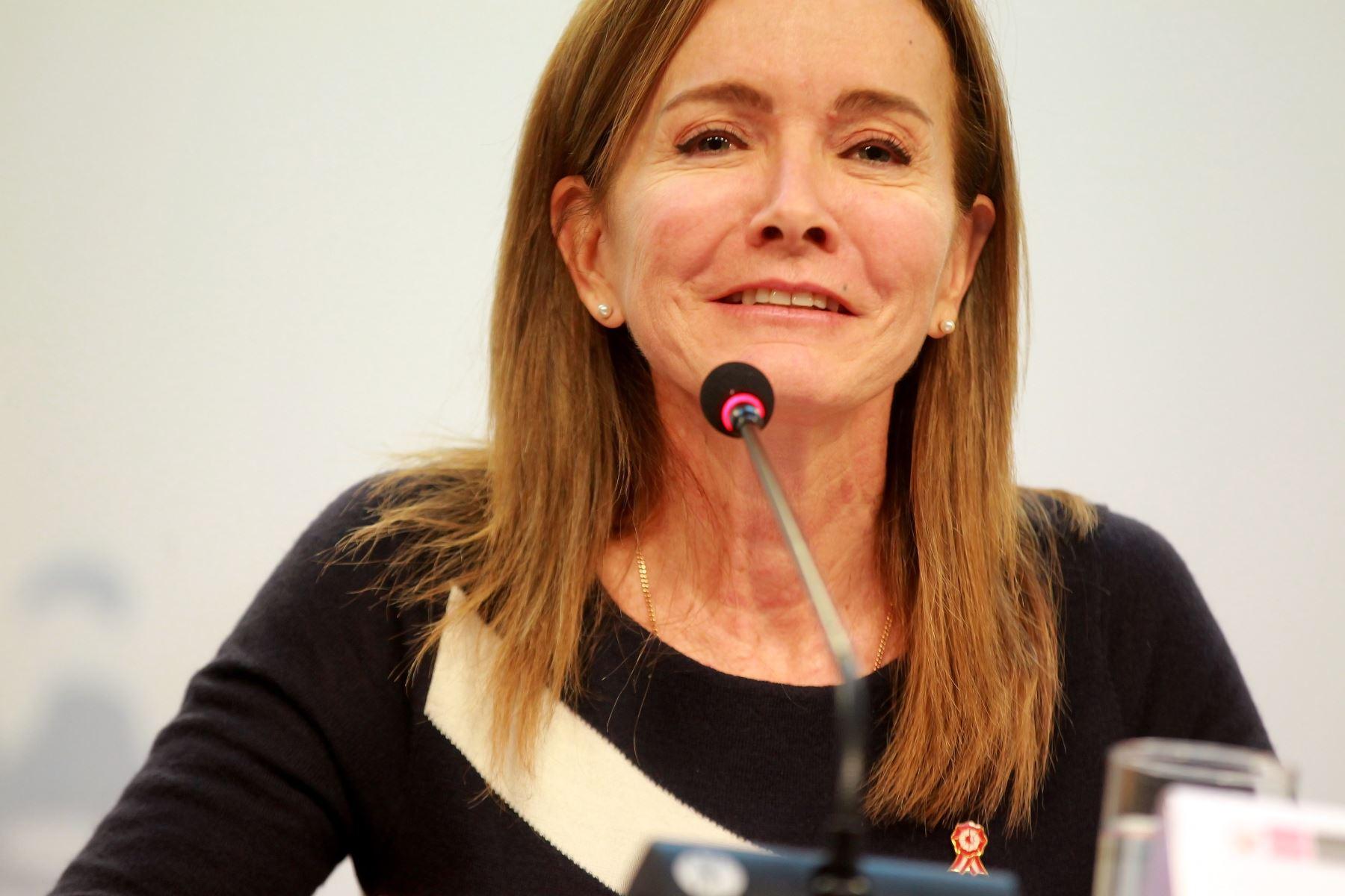 Ministra de Educación, Marilú Martens. ANDINA/Luis Iparraguirre
