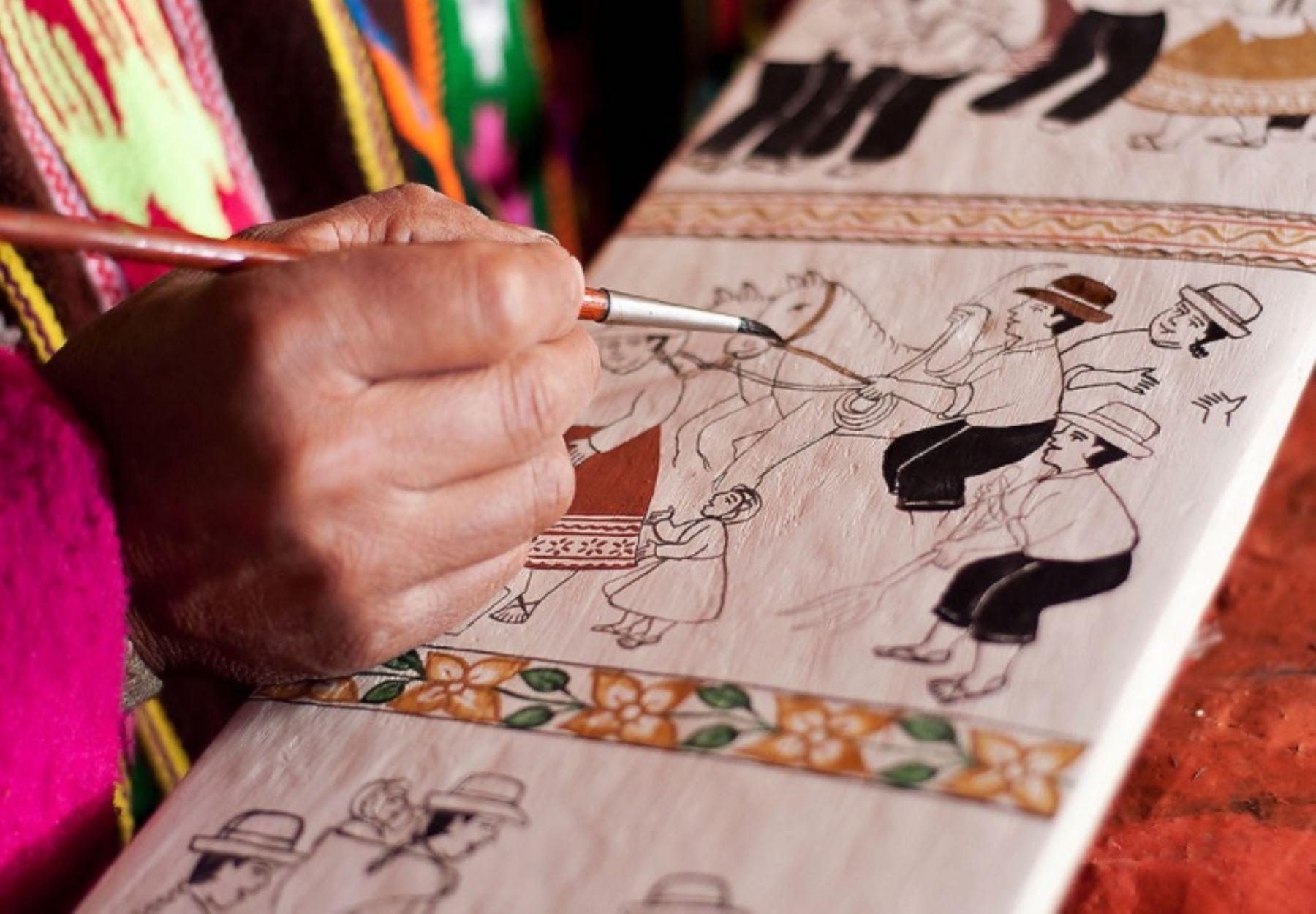 El Ministerio de Cultura declaró como Patrimonio Cultural de la Nación a las Tablas de Sarhua de Ayacucho. ANDINA/Difusión