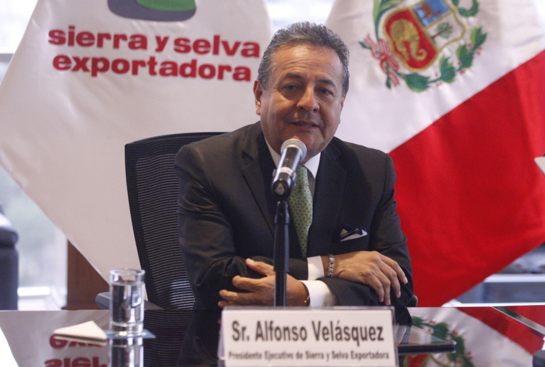 Presidente ejecutivo de Sierra y Selva Exportadora, Alfonso Velásquez. ANDINA/Eddy Ramos