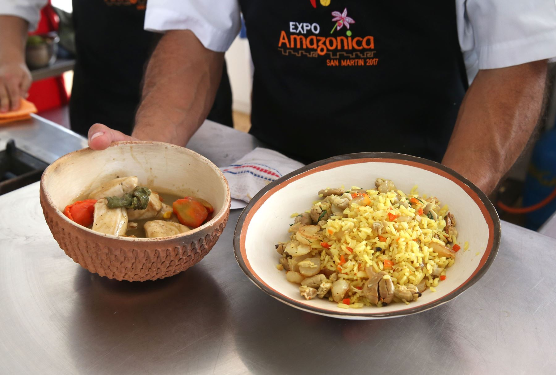 En Expo Amazónica se promueve el consumo de paiche a través de degustaciones gratuitas. ANDINA/Vidal Tarqui