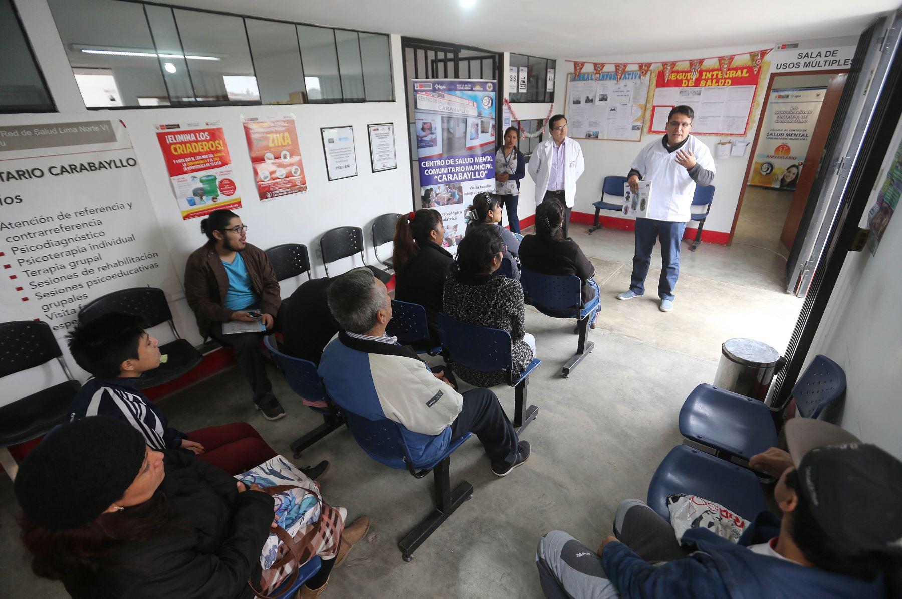el Ministerio de Salud (Minsa) proyectó ampliar a 180 la cantidad de Centros de Salud Mental Comunitario (CSMC) en todo el país. ANDINA/Jhony Laurente