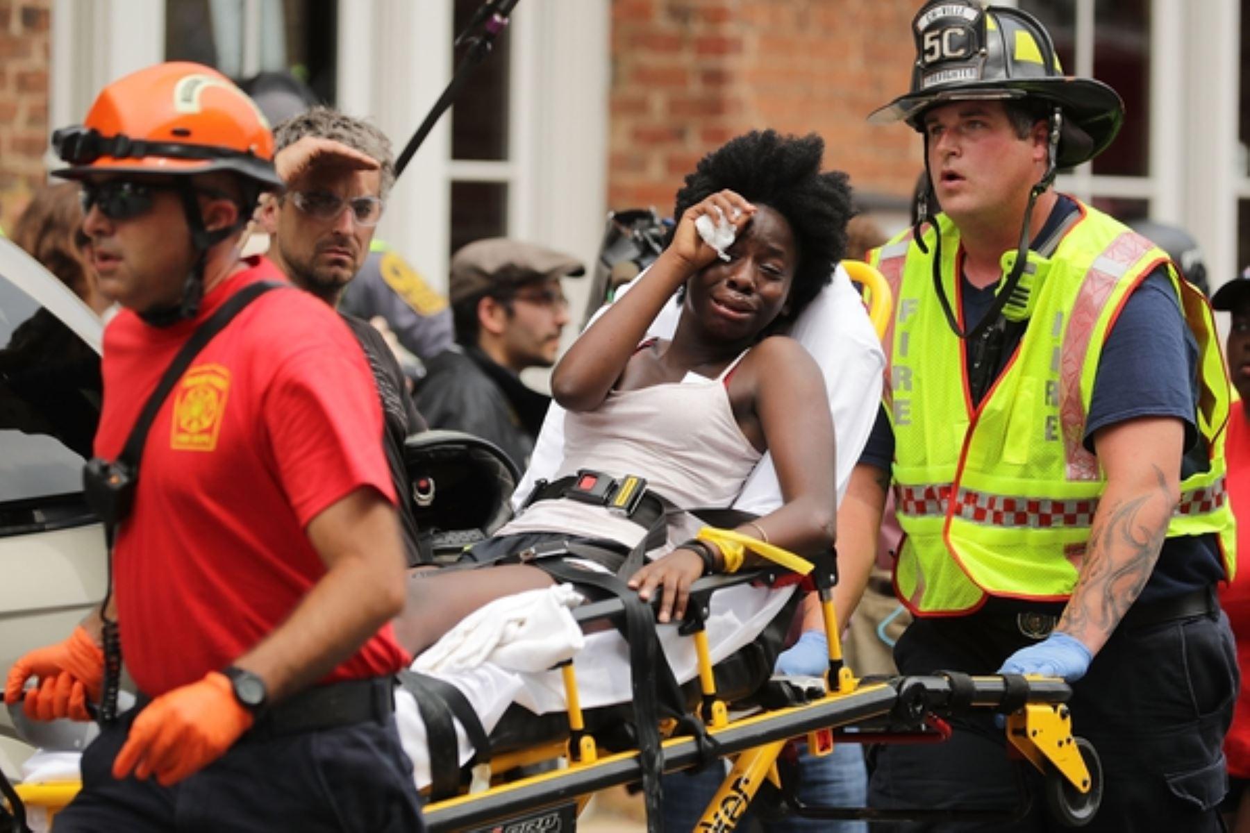Un muerto en violenta manifestación de derecha radical en EE. UU.. Foto: AFP.
