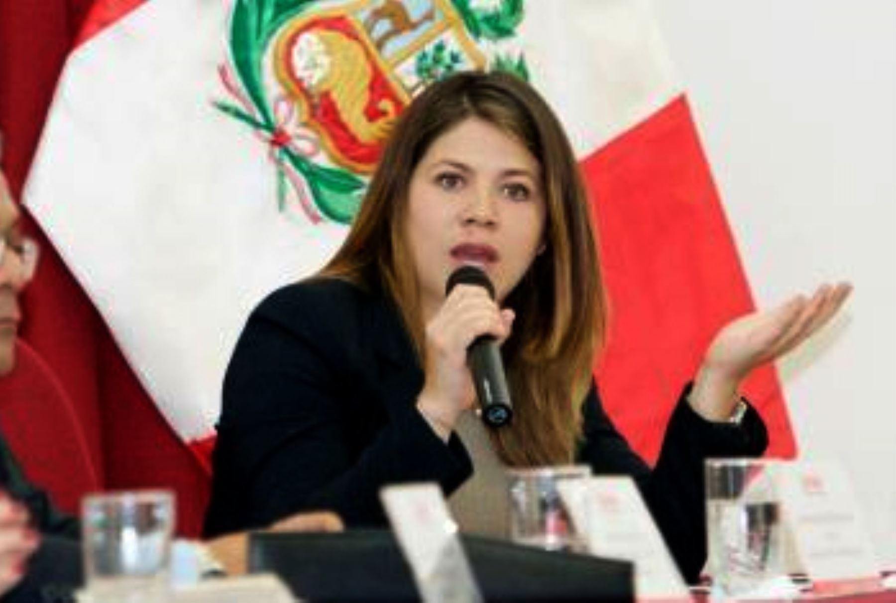 Presidenta ejecutiva del OSCE Blythe Muro. ANDINA/Difusión