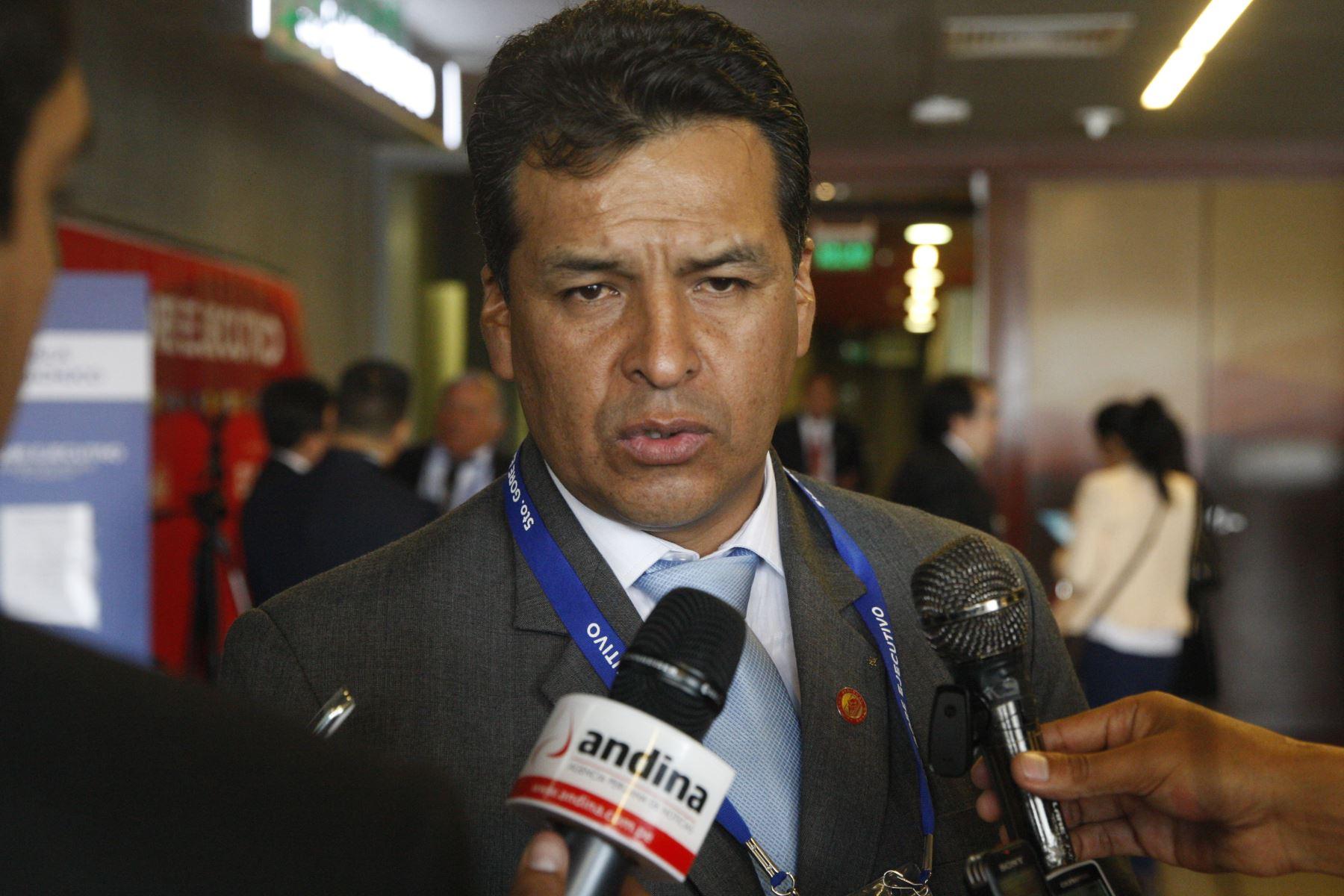 Gobernador regional de Cusco, Edwin Licona, también saludó la ratificación de fortalecer las medidas para la Reforma del Sistema Judicial. ANDINA/Eddy Ramos.