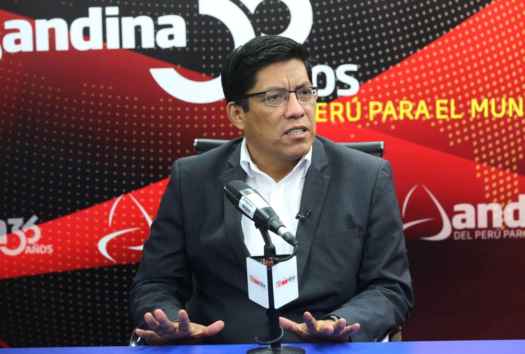 Ministro de Justicia, Vicente Zeballos. Foto: ANDINA/Jhony Laurente
