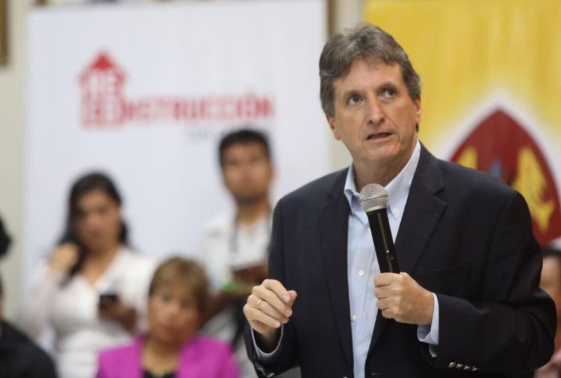 Director ejecutivo de la Autoridad para la Reconstrucción con Cambios, Pablo de la Flor. ANDINA/Jhony Laurente
