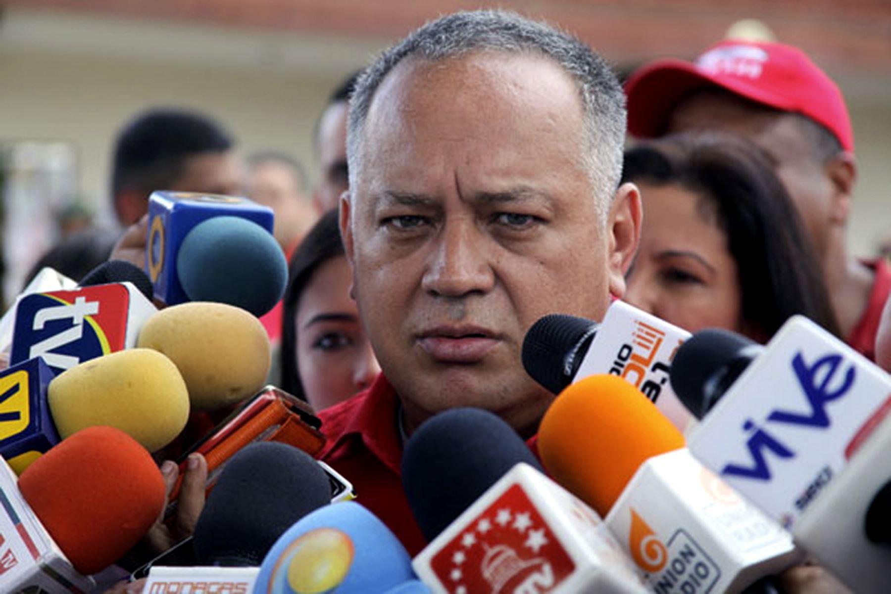 Político venezolano Diosdado Cabello. Foto: AFP