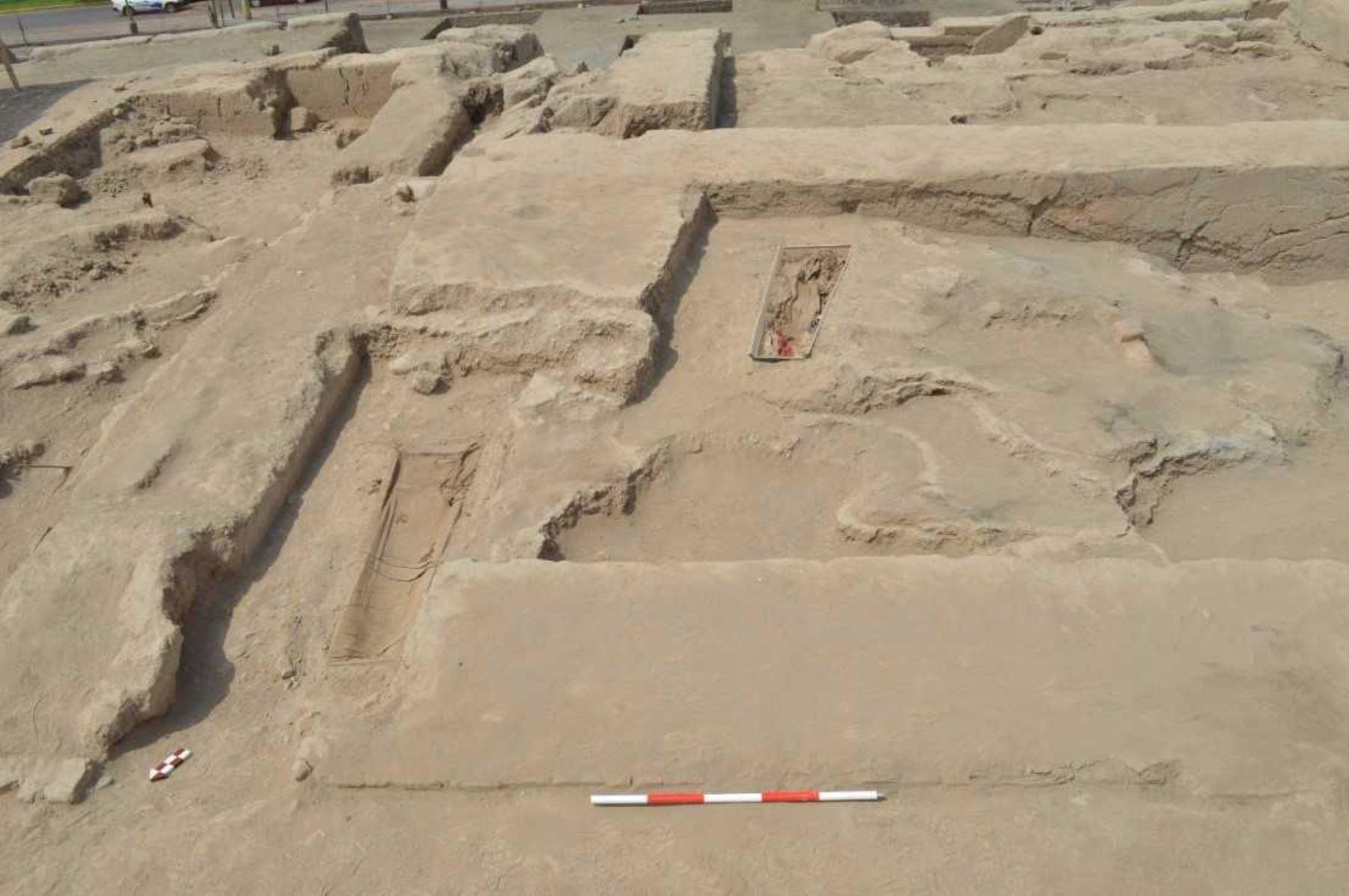 Ministerio de Cultura encontró un cementerio chino en huaca Bellavista. Foto: ANDINA/Difusión.