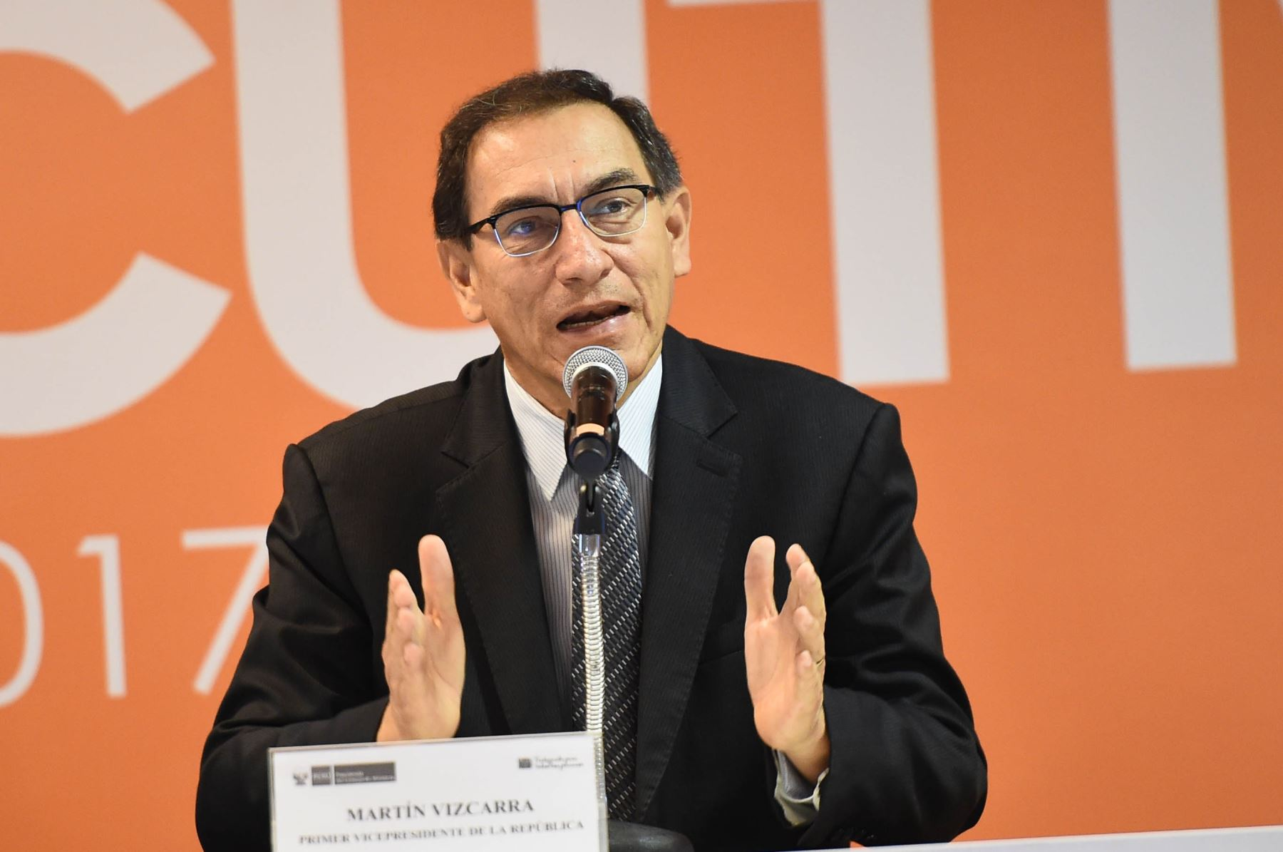 Vicepresidente de la República, Martín Vizcarra. ANDINA/Difusión