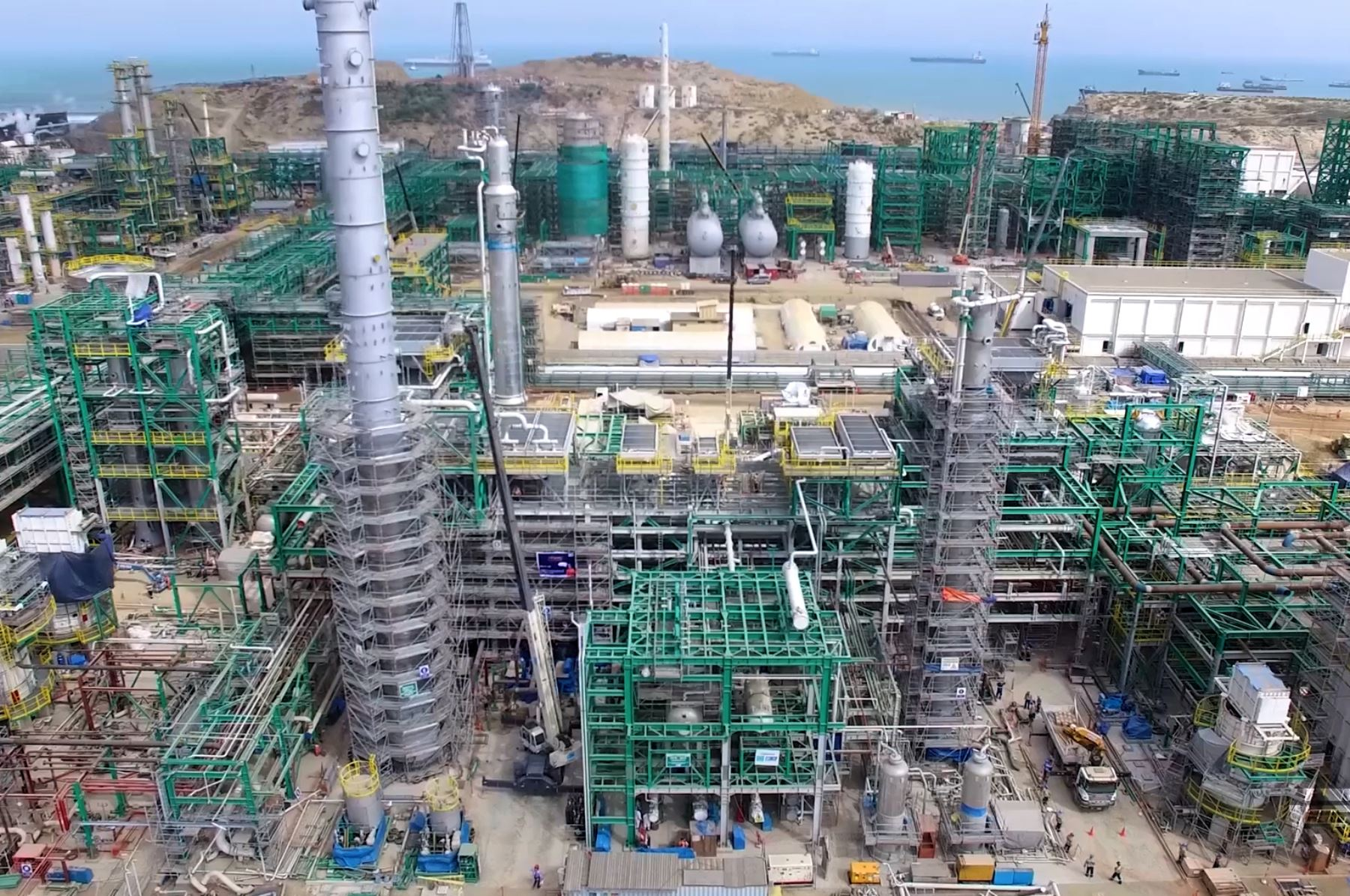 Modernización de la refinería de Talara. ANDINA/Jhony Laurente