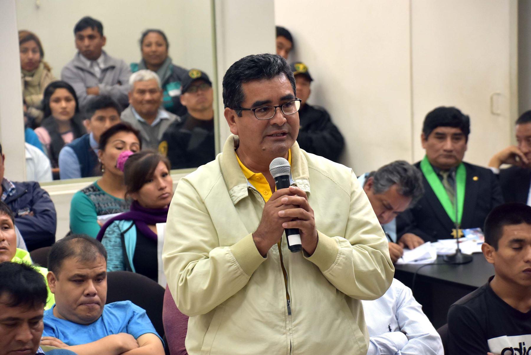 El exgobernador regional de Áncash, César Álvarez Aguilar, tras ser hallado culpable del delito de colusión agravada, referido a la ejecución de la obra de construcción del estadio Rosas Pampa de Huaraz.ANDINA/Difusión