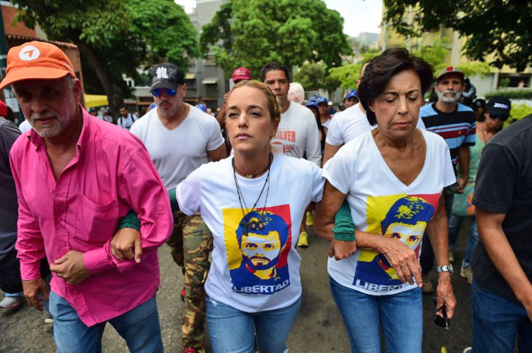 Lilian Tintori, esposa del opositor venezolano Leopoldo López. Foto: AFP