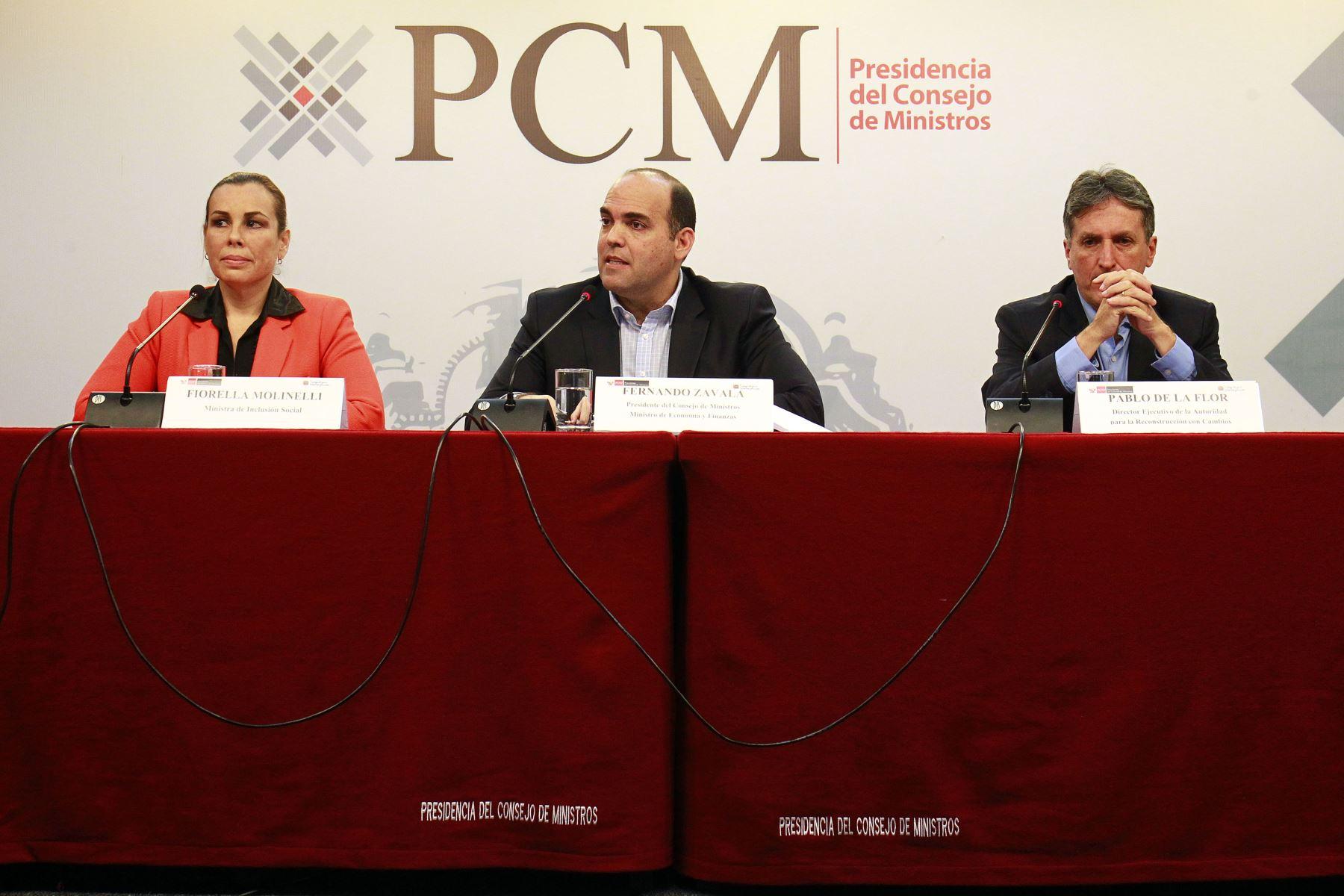 Gobierno oficializa el Plan Integral de la Reconstrucción con Cambios. ANDINA/Luis Iparraguirre