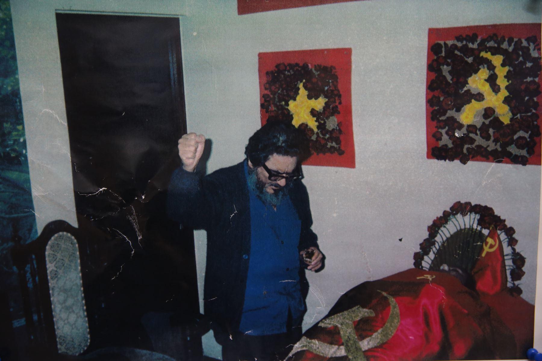 Sala de trofeos de la captura de Abimael Guzmán  en la Dircote.Foto: ANDINA/Oscar Farje Gomero.
