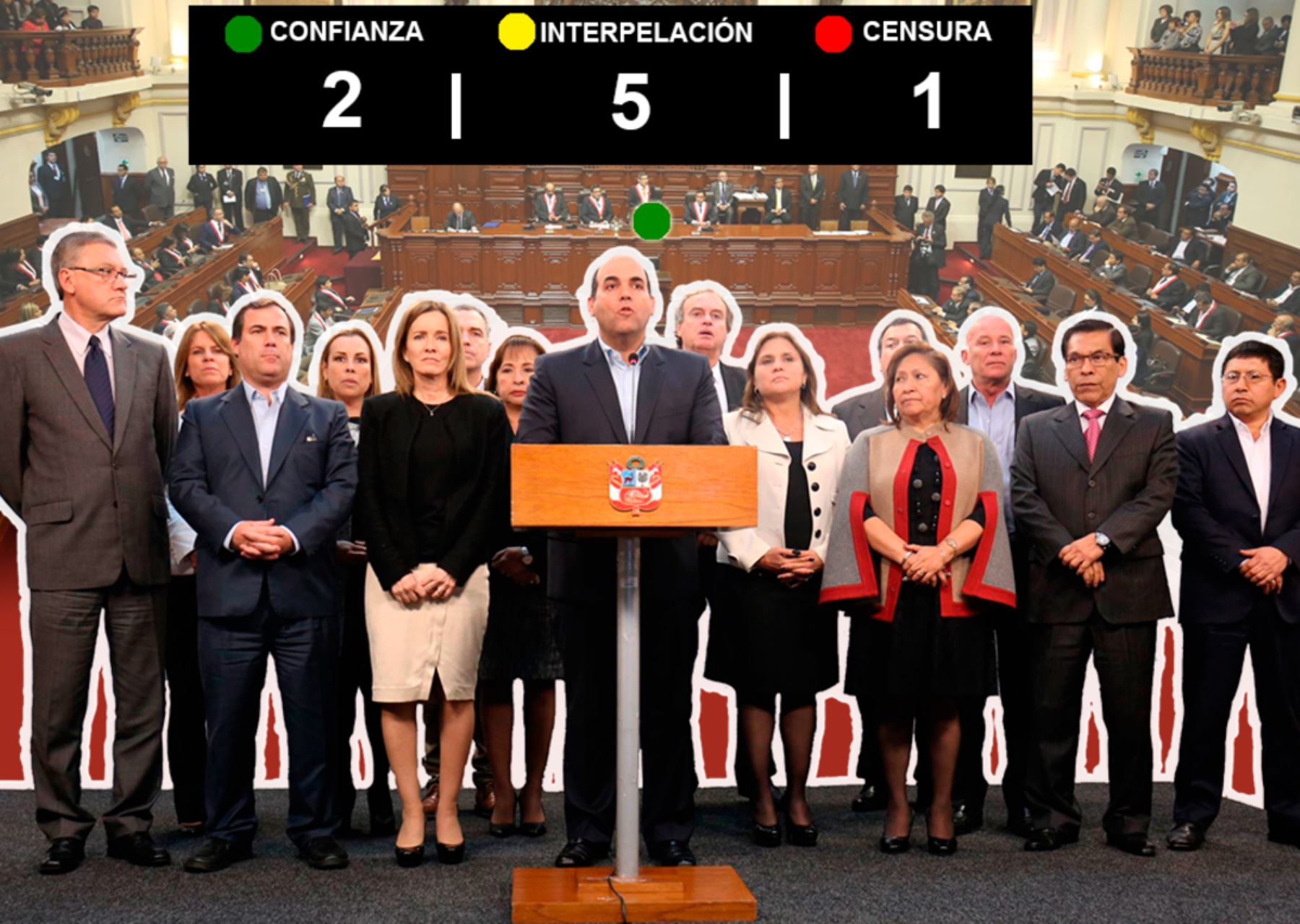 Una censura y cinco interpelaciones afrontó el gabinete Zavala. Foto: Archivo.