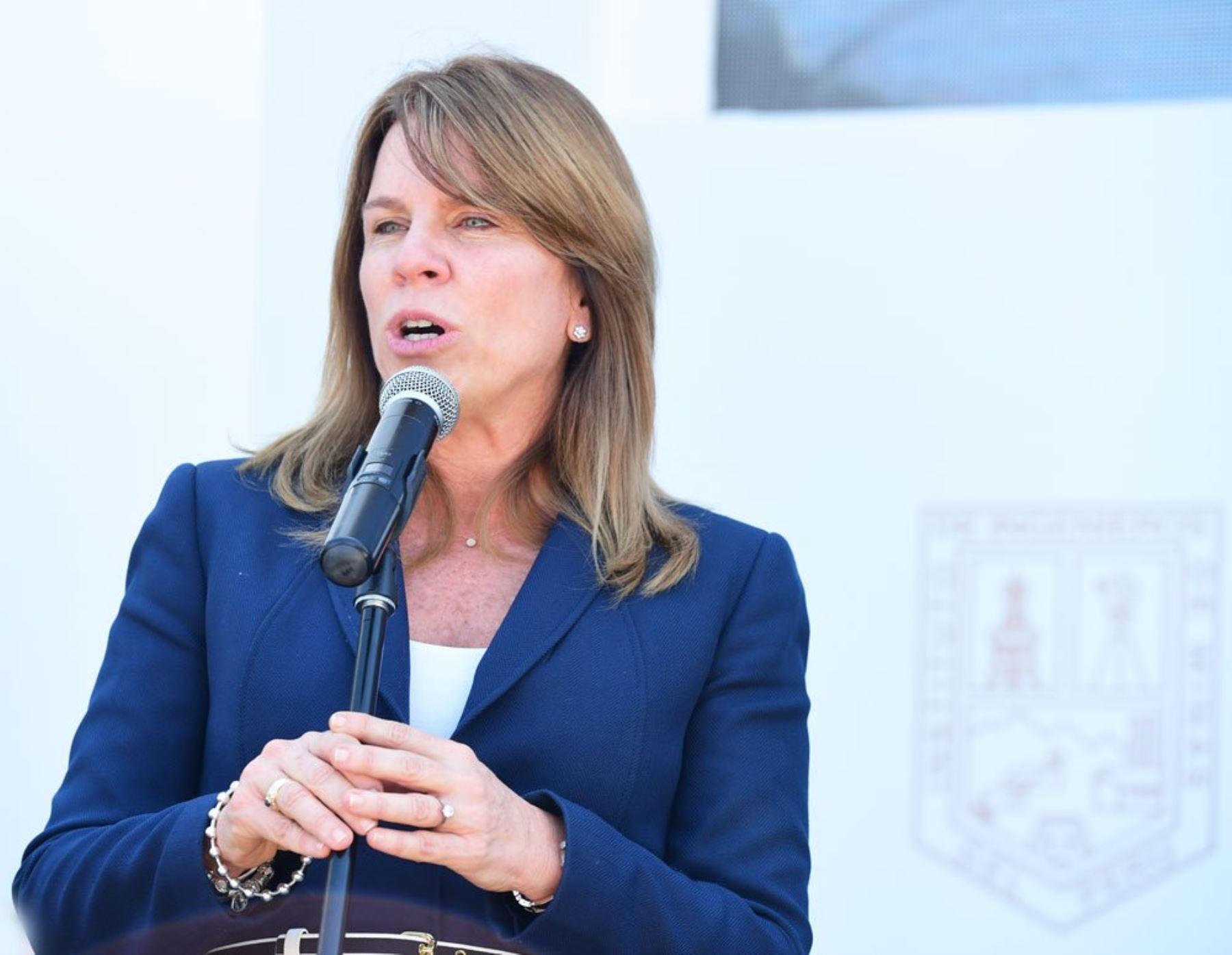 Ministra Cayetana Aljovín. Fuente: Perumin