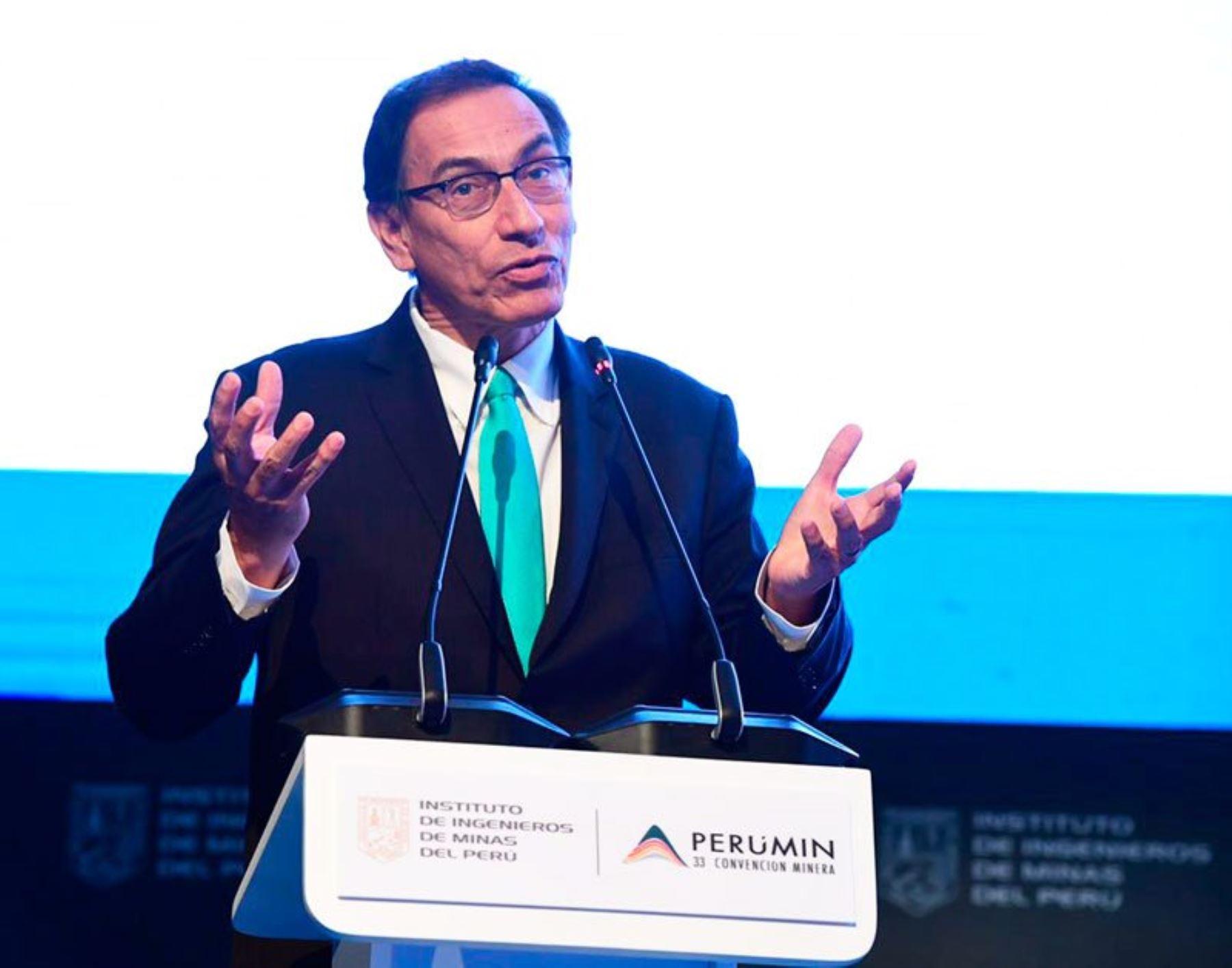 Vicepresidente Martín Vizcarra. Fuente: Perumin