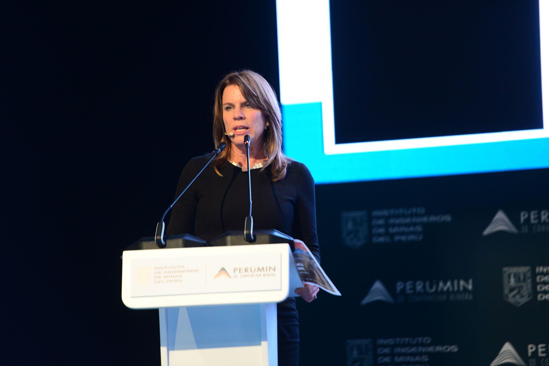 Ministra de Energía y Minas, Cayetana Aljovín. Fuente: Perumin
