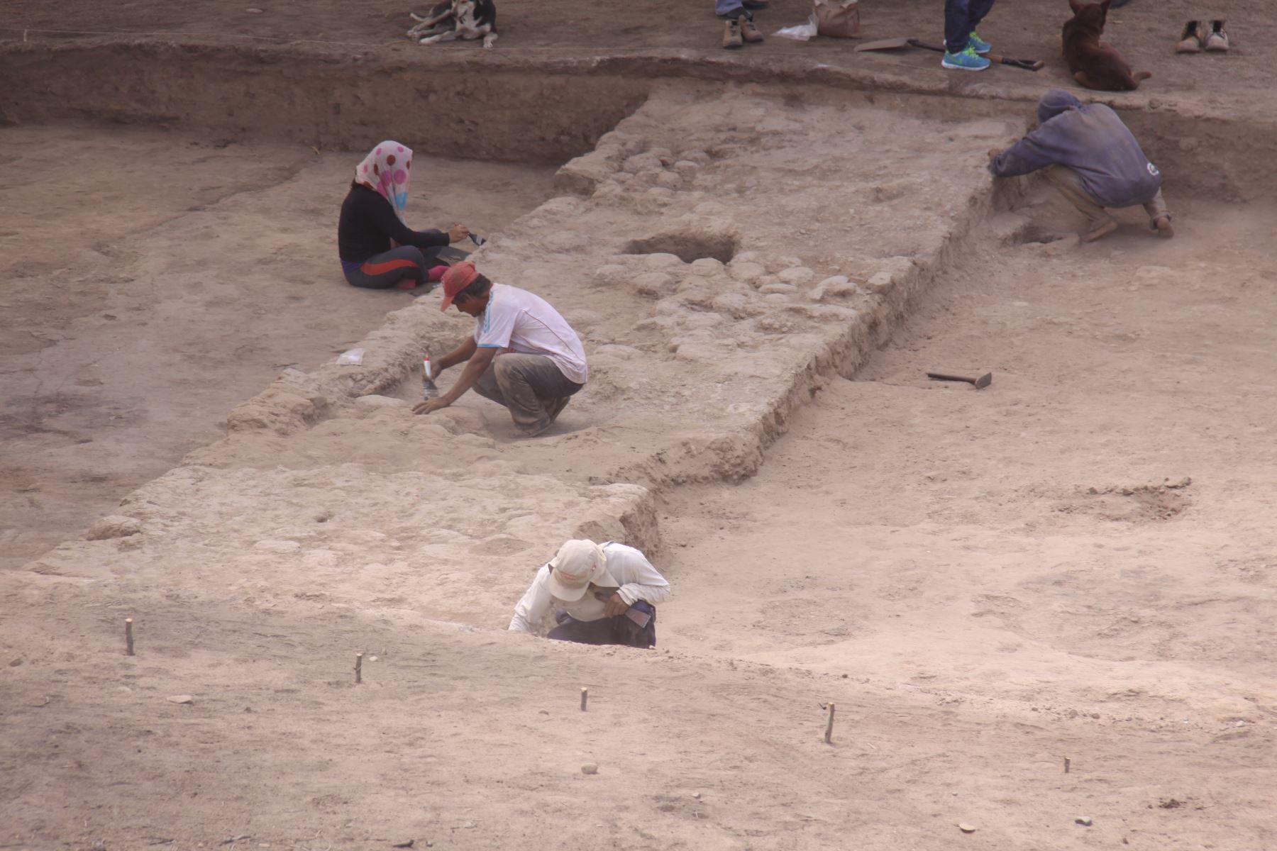 Hallan evidencias del colapso de la época mochica en sitio arqueológico Santa Rosa, en Lambayeque. ANDINA