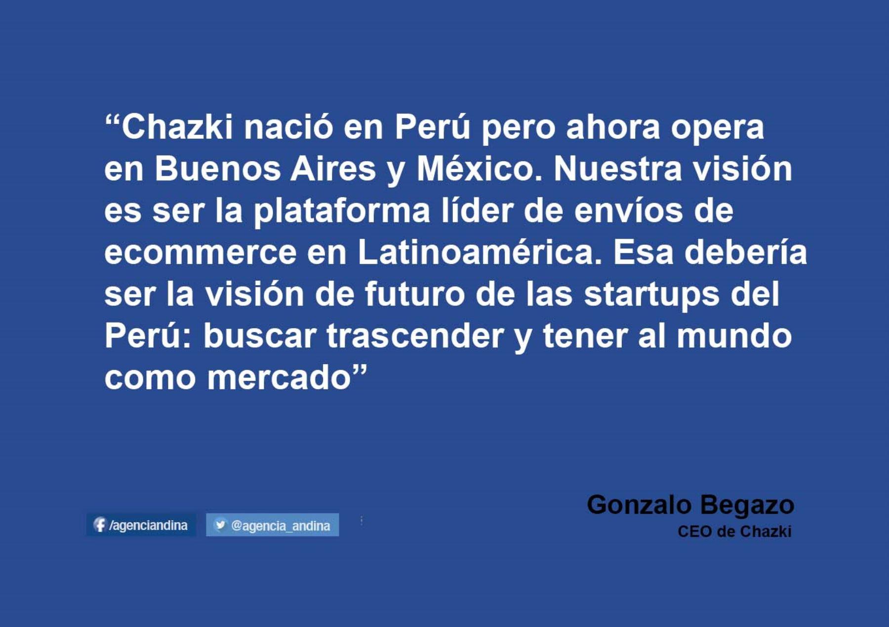 Chazki es una plataforma de ecommerce.