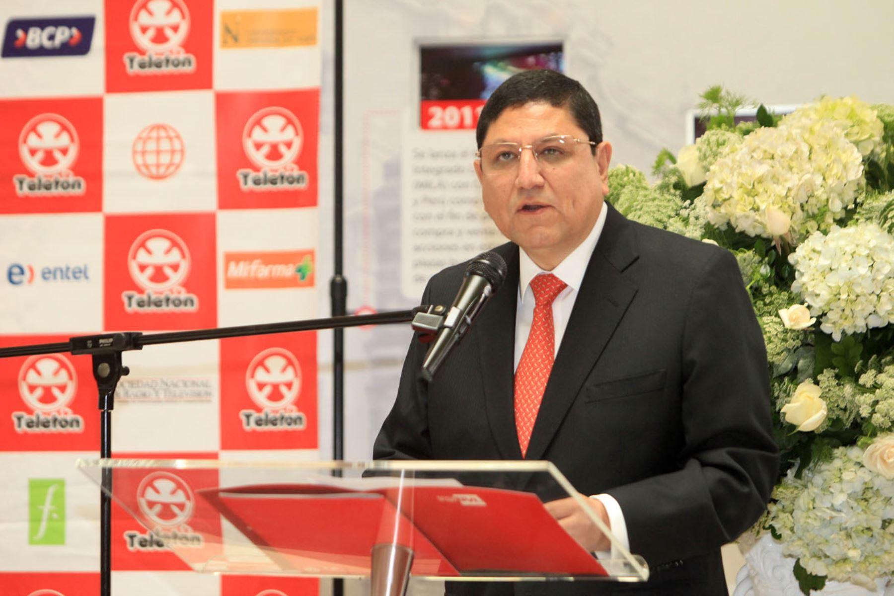 Presidente de la BVL, Marco Antonio Zaldívar. ANDINA/Héctor Vinces