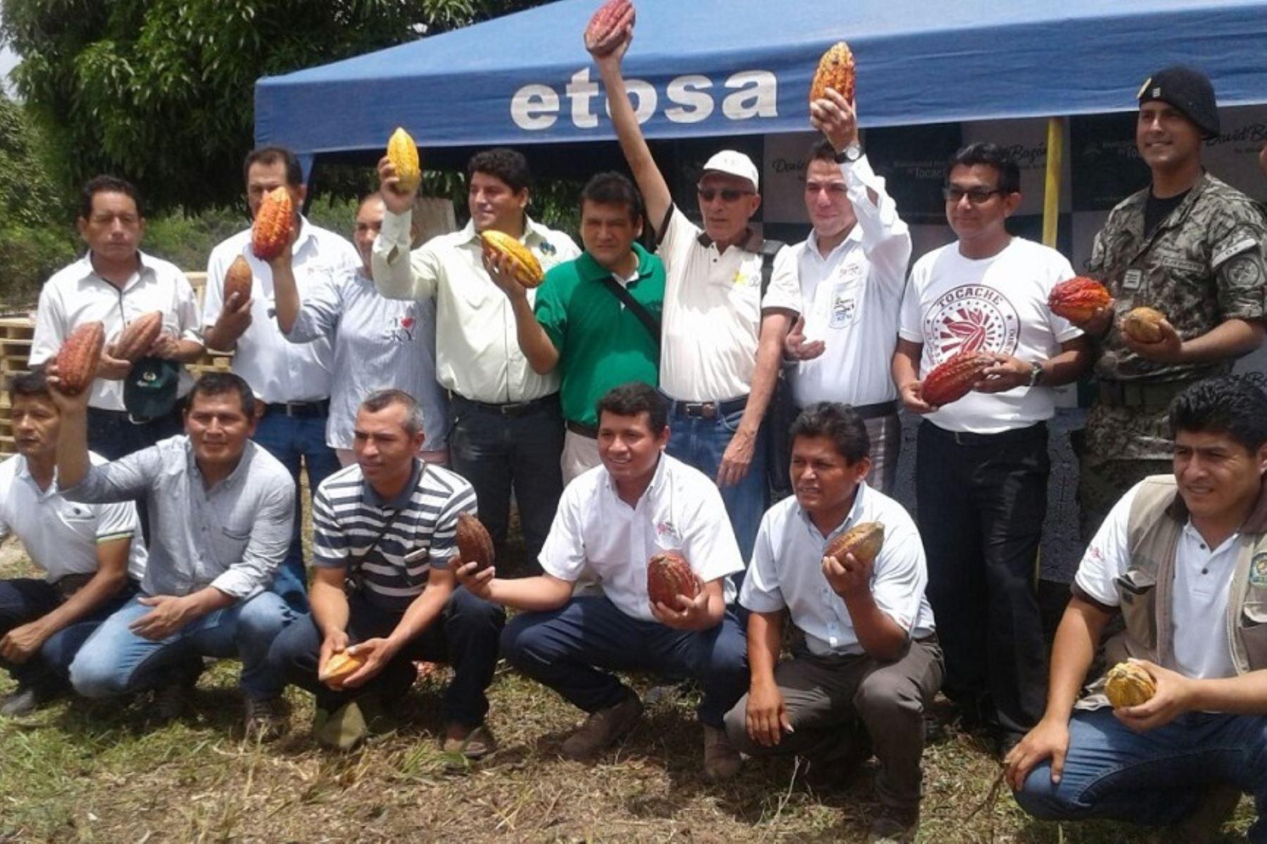 Centro de beneficio de cacao beneficiará a más de 800 productores de Tocache, San Martín. ANDINA