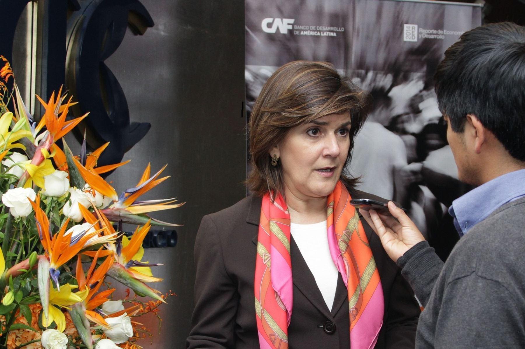 Directora representante en Perú de la CAF, Eleonora Silva.