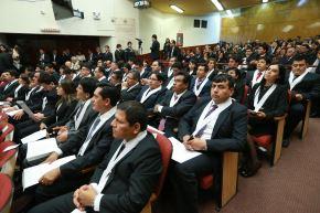 LIMA,PERÚ- OCTUBRE 1.  El presidente del Consejo Nacional de la Magistratura (CNM), Guido Aguila Grados, tomó juramento a jueces de diversas especialidades . Foto: ANDINA/Norman Córdova