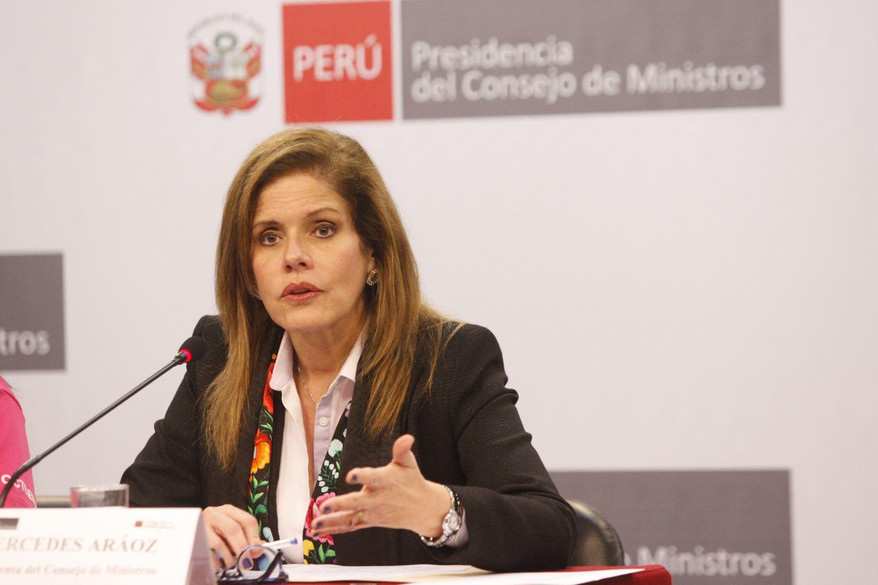 Mercedes Aráoz, presidenta del Consejo de Ministros. Foto: ANDINA/Eddy Ramos