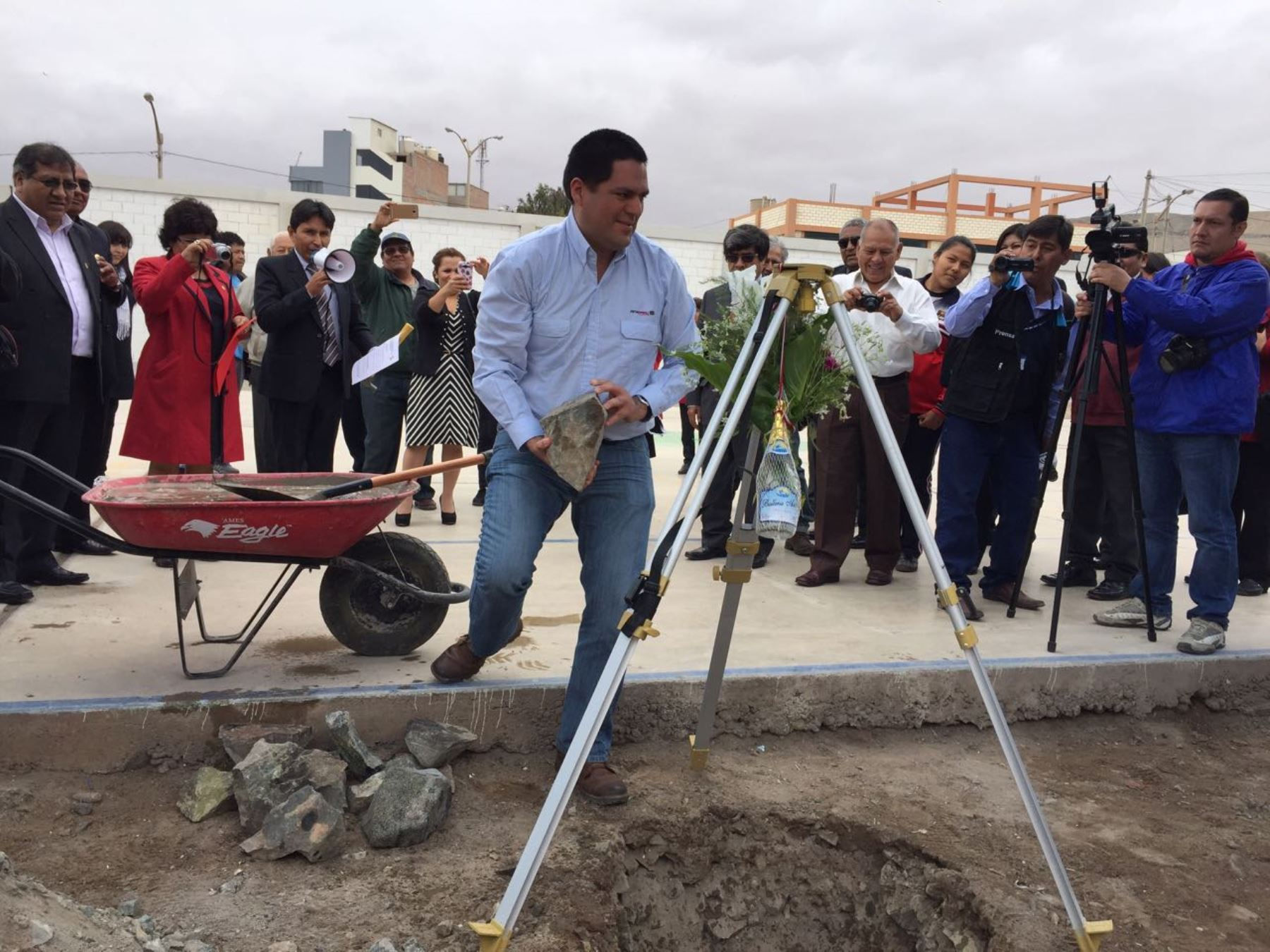 Petroperú inicia obras de techado en colegio Mercedes Cabello de Ilo. ANDINA/Difusión