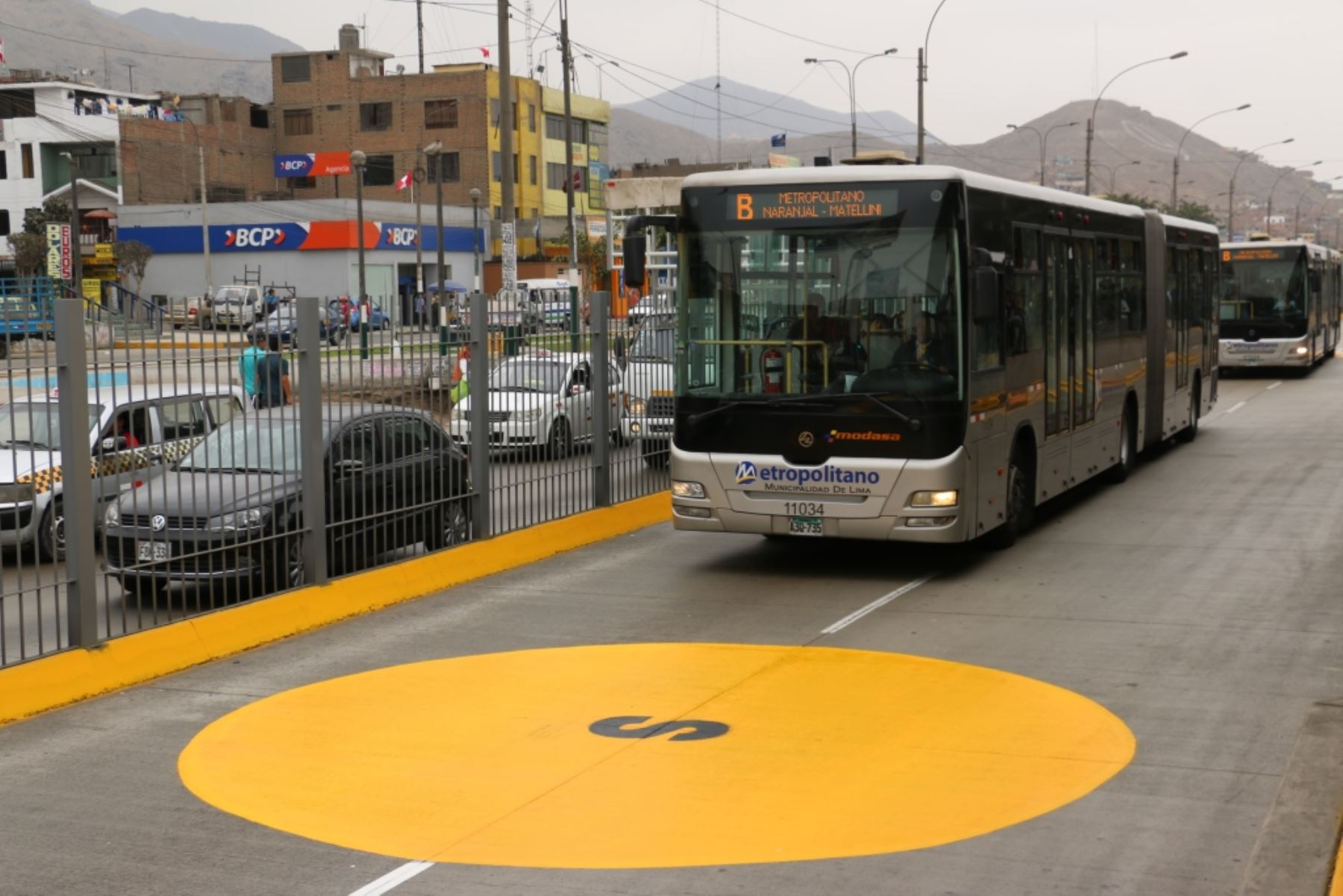Buses del Metropolitano se detendrán 10 minutos durante simulacro de sismo. Foto: ANDINA/Difusión.