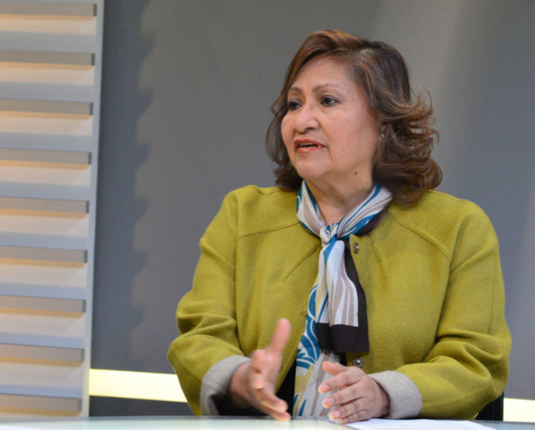 Ministra de la Mujer, Ana María Choquehuanca. Foto: Andina/Difusión