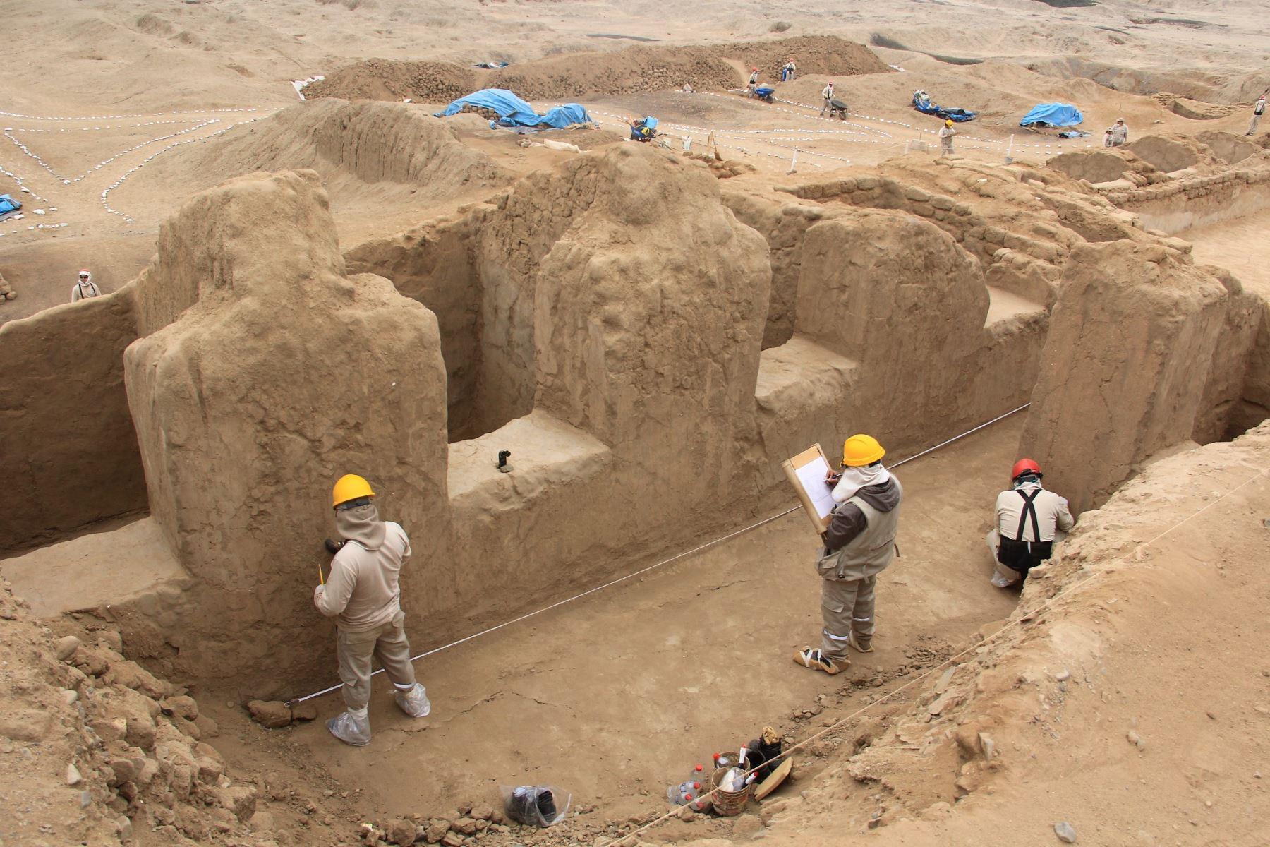 Hallazgo en conjunto amurallado Utzh An, en Chan Chan, evidencia reocupación chimú-inca, afirman investigadores. ANDINA/Luis Puell