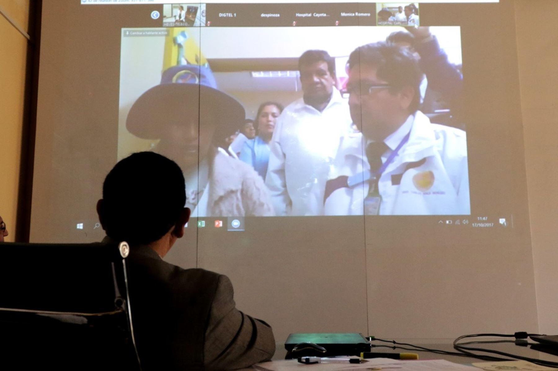 Más de 4,000 establecimientos de salud accederán al servicio de telemedicina. NDINA/Difusión