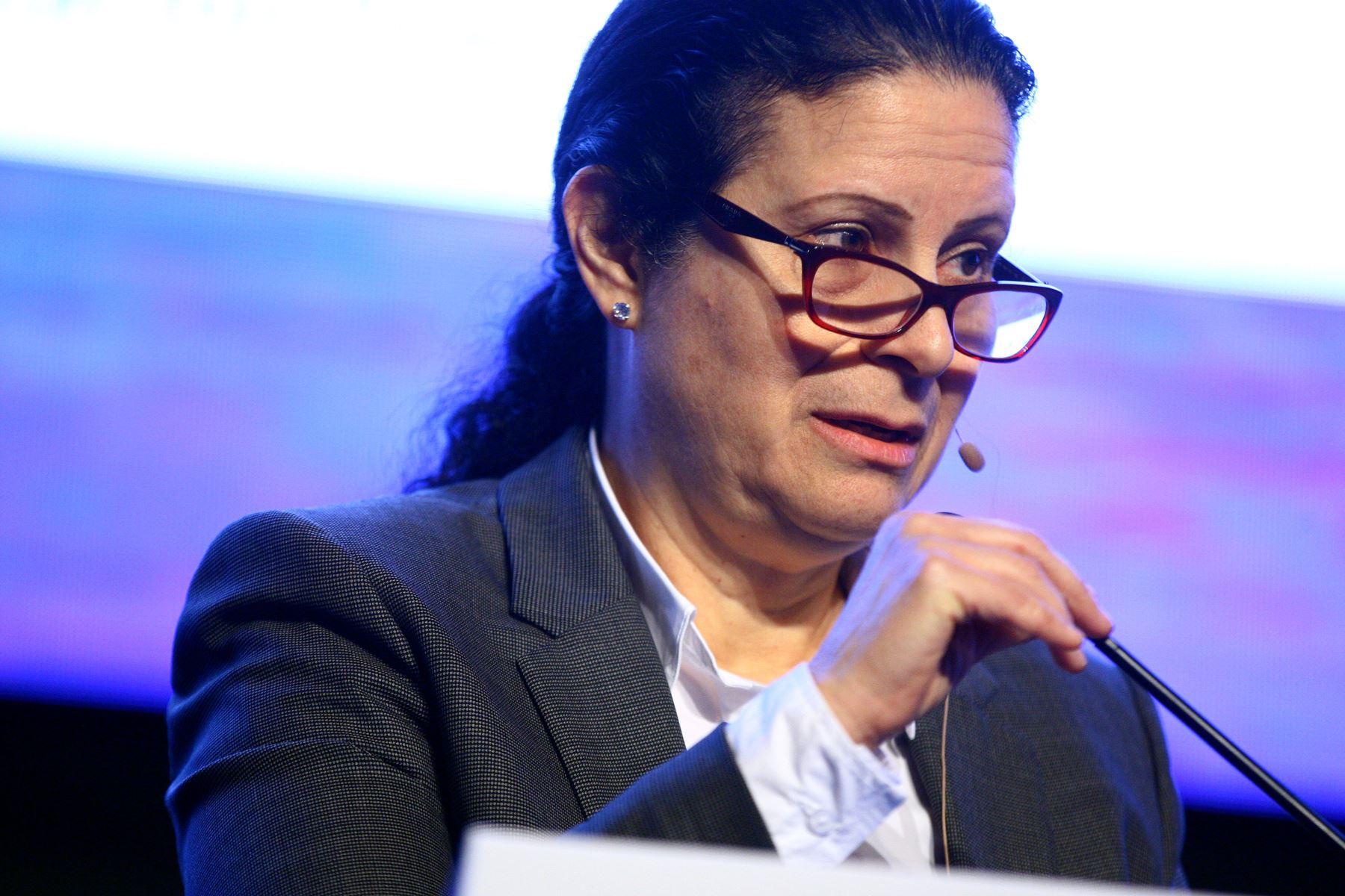 Superintendenta de Banca, Seguros y AFP, Socorro Heysen. ANDINA/Luis Iparraguirre